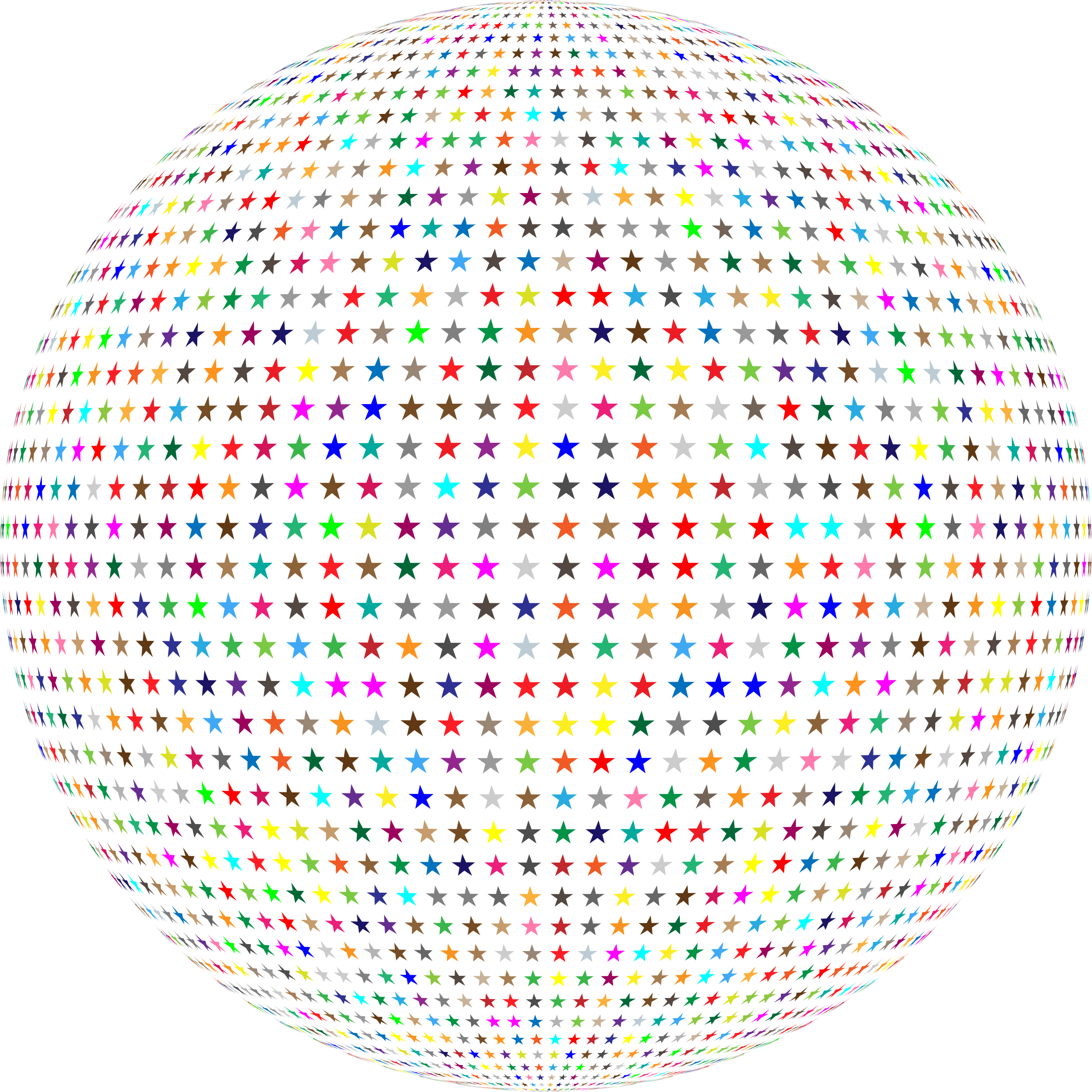 Colorful Stars Sphere by GDJ