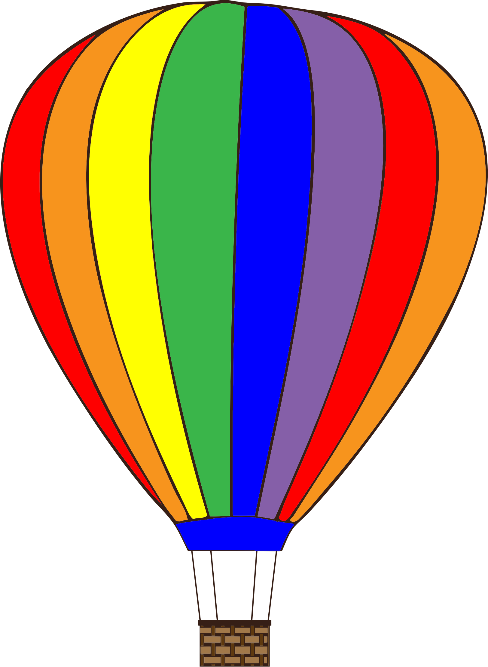 Colorful Hot Air Balloon by GDJ
