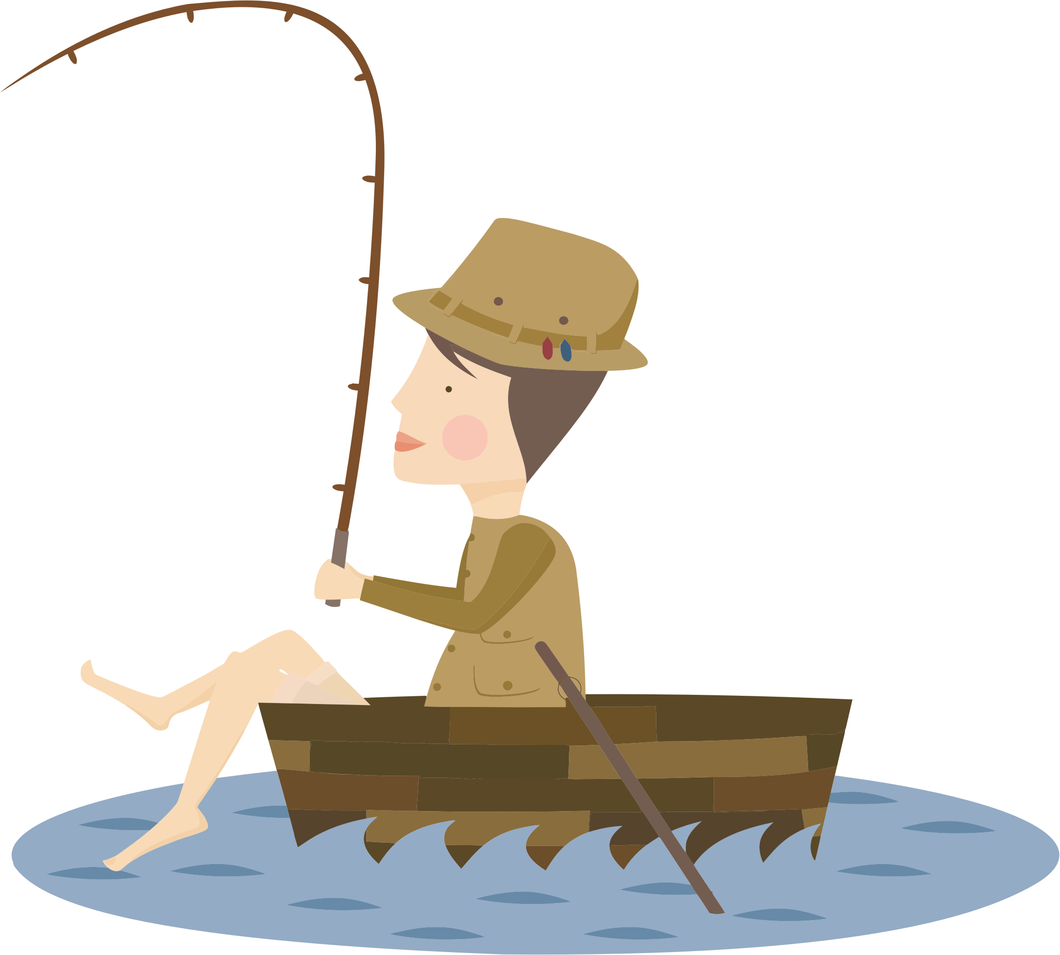 Cartoon Fisherman by GDJ