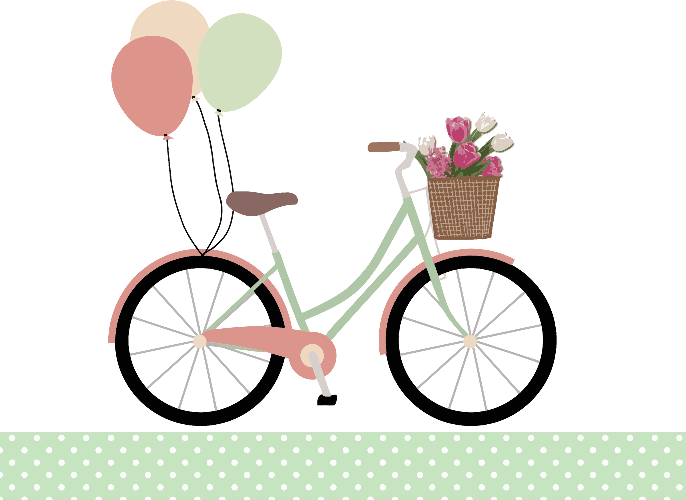 Bicycle With Balloons by GDJ