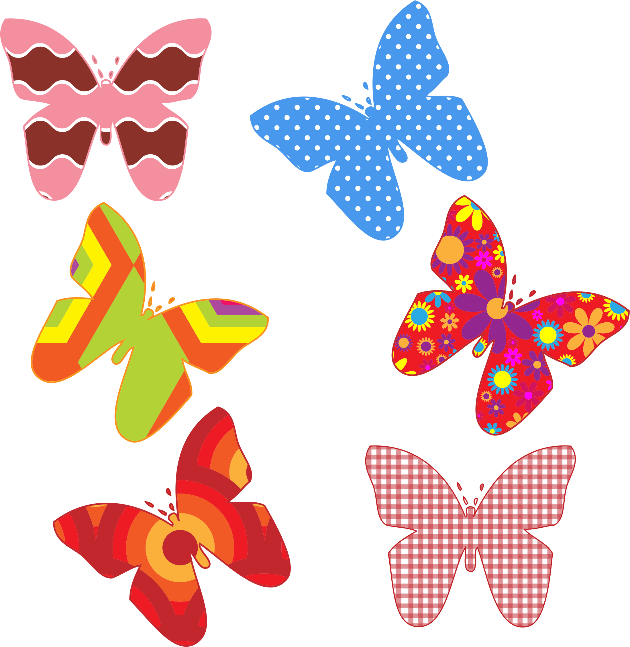 Colorful Butterfly Patterns by GDJ
