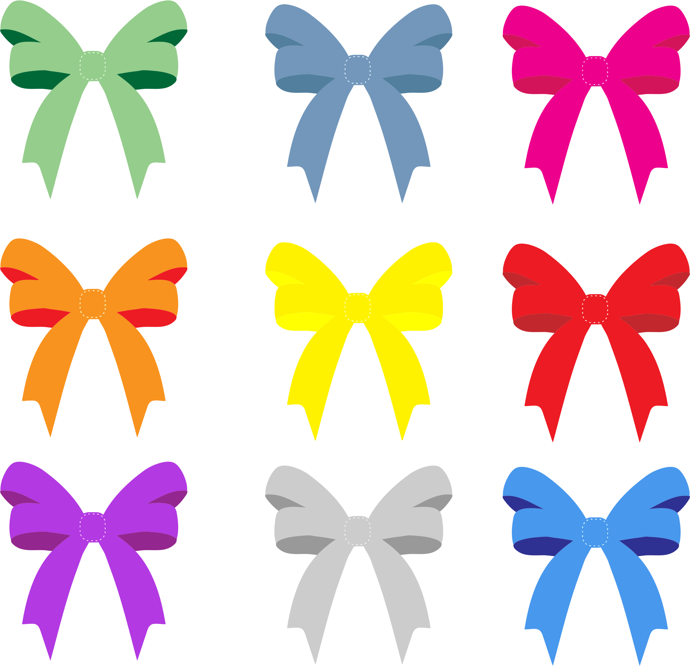 Colorful Bows And Ribbons by GDJ