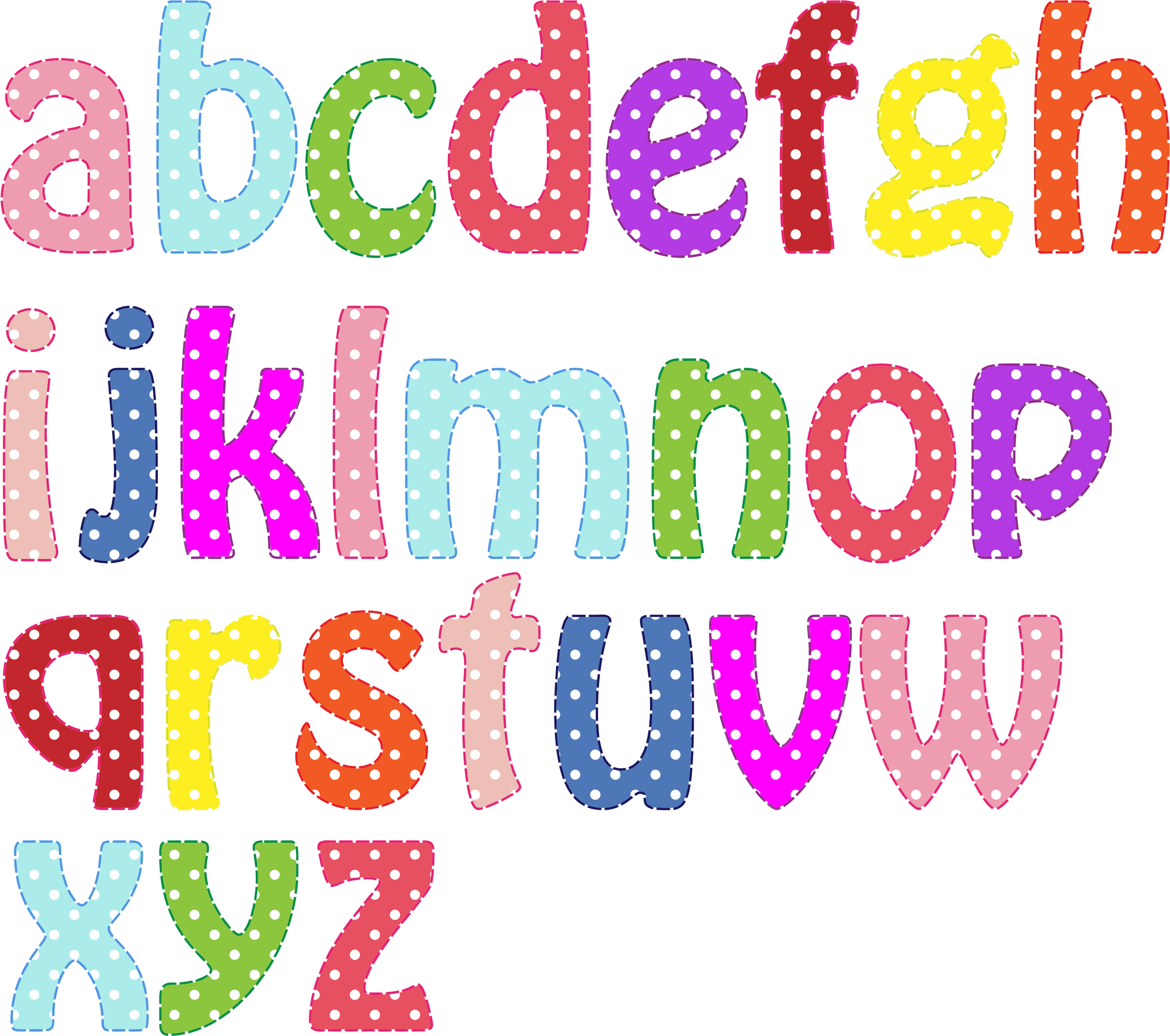 Colorful Alphabet Lowercase by GDJ