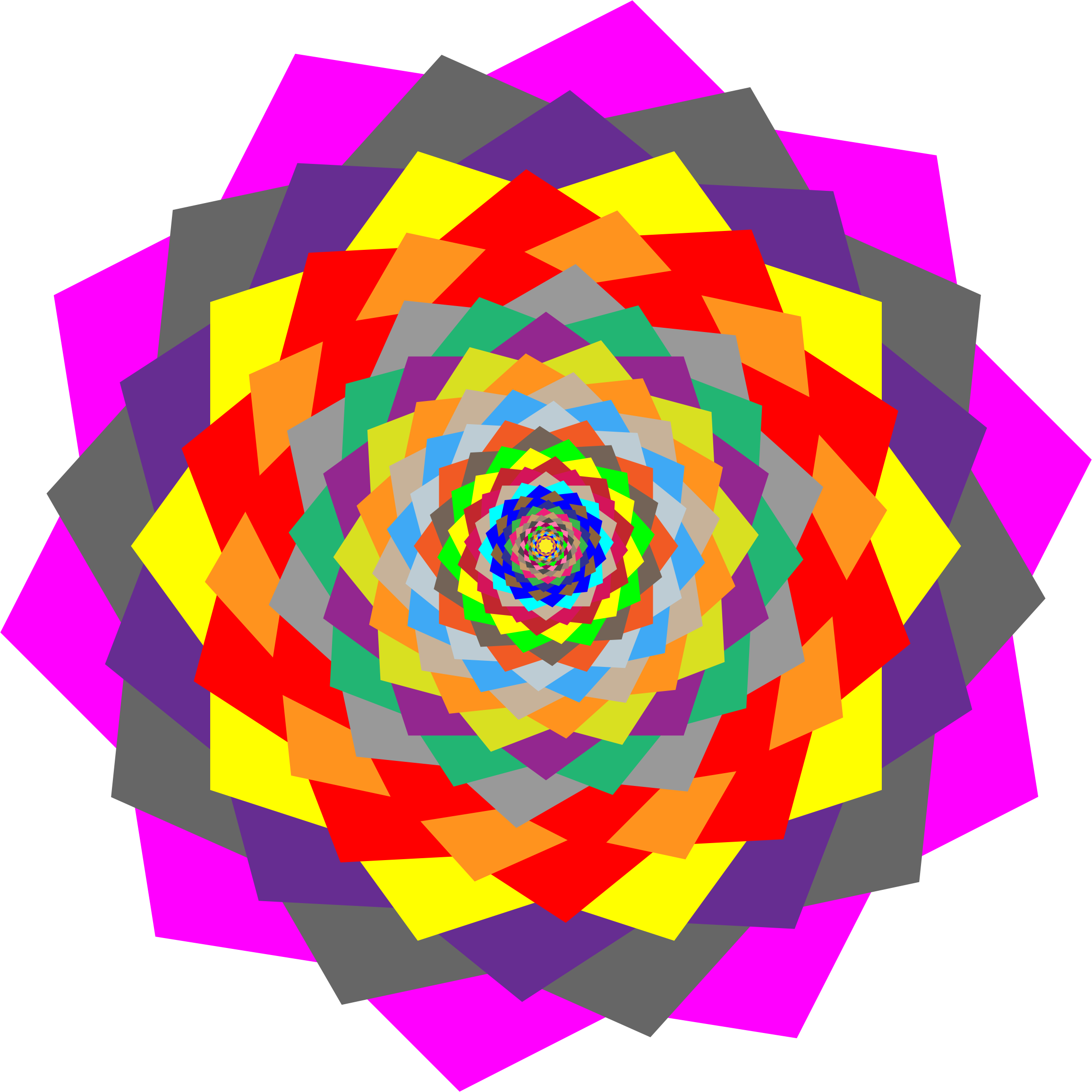 Colorful Rosette by GDJ