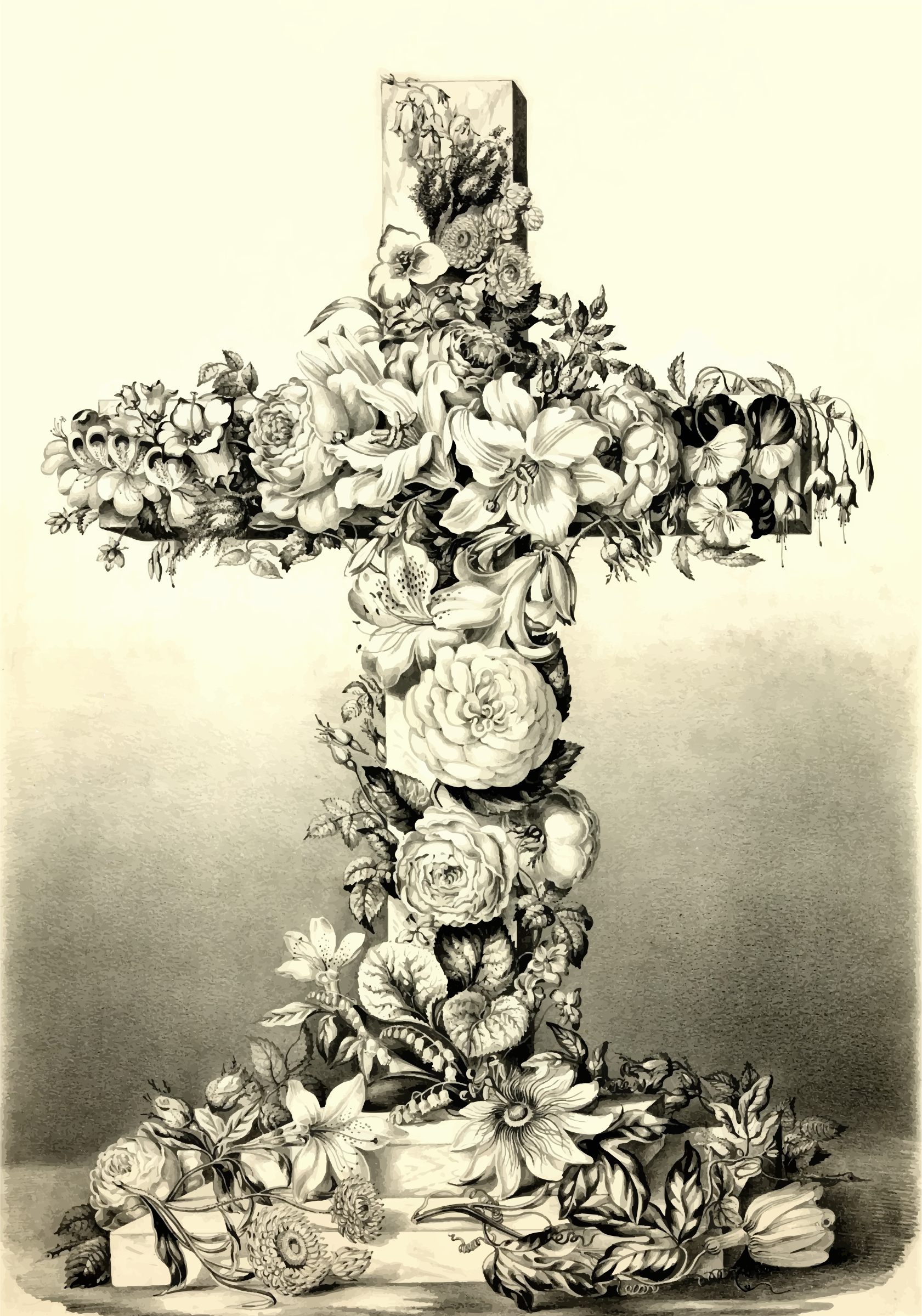 Floral Easter Cross by GDJ