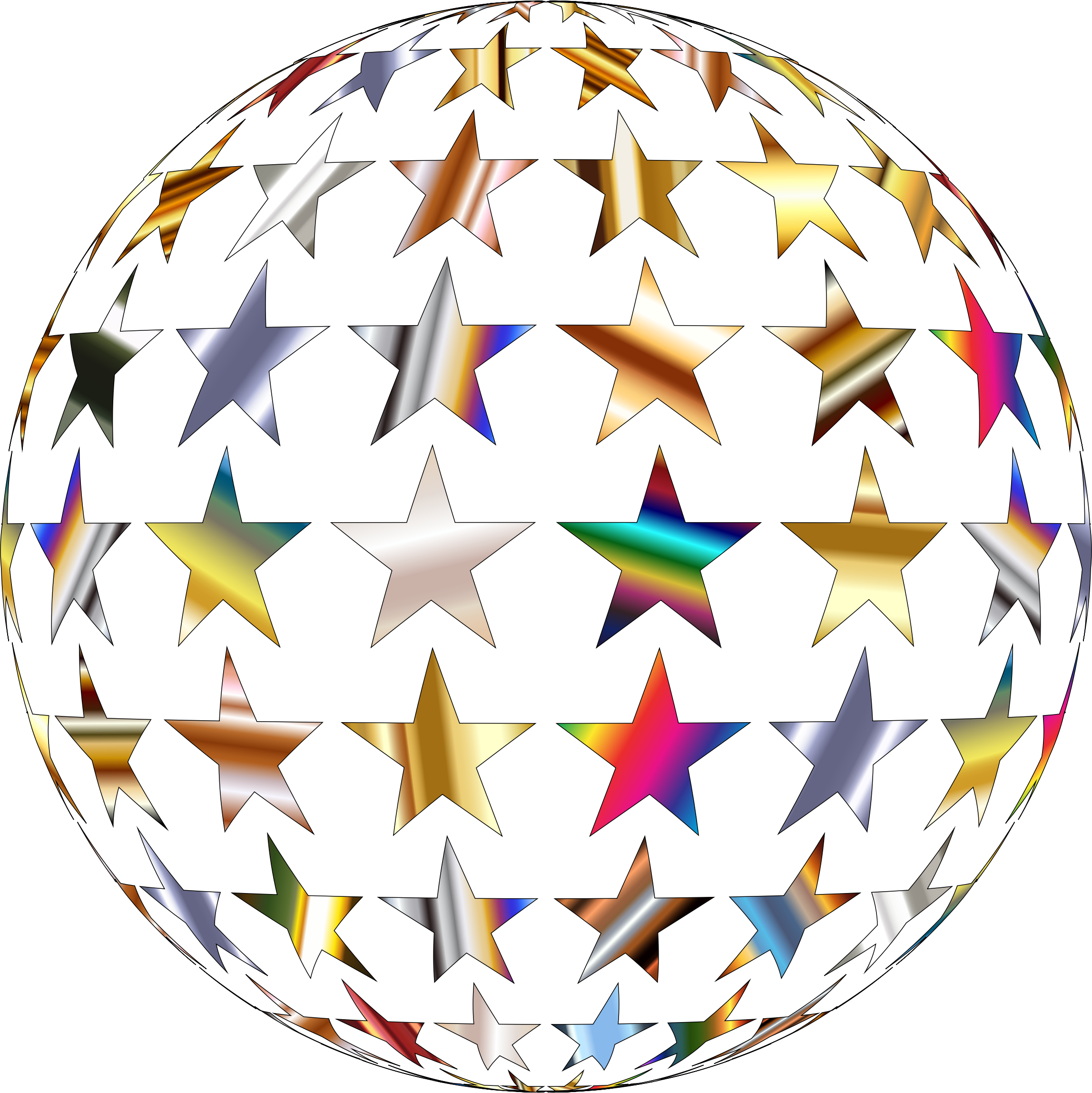 Metallic Shiny Stars Sphere by GDJ