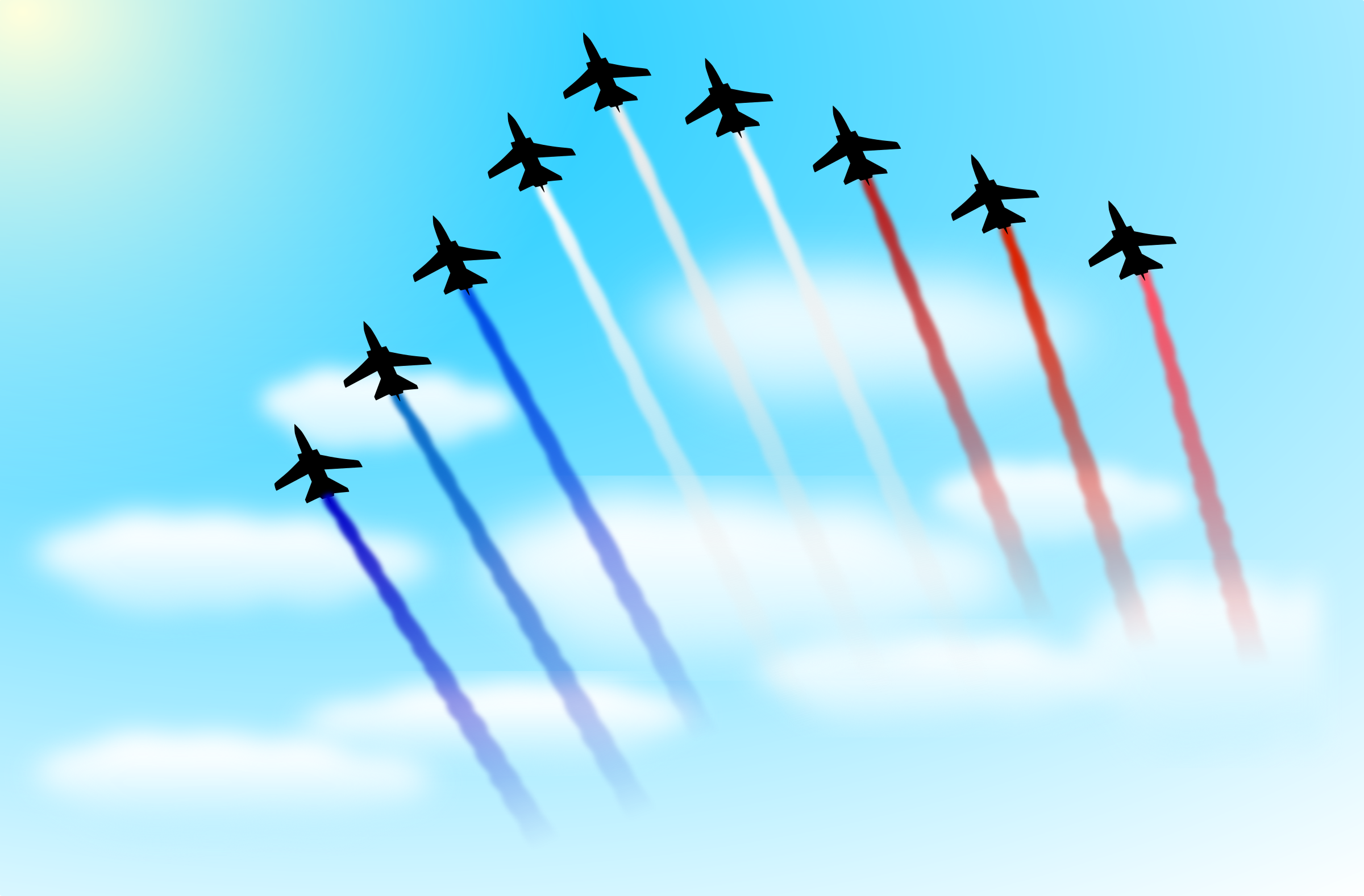 Patrouille de France (fixed) by cyberscooty