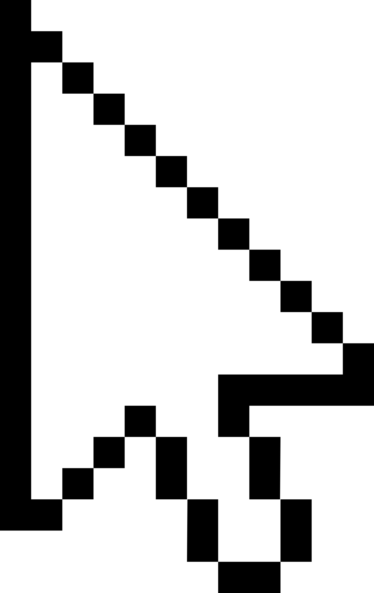 White Pixel Mouse Cursor Arow (Fixed) by qubodup