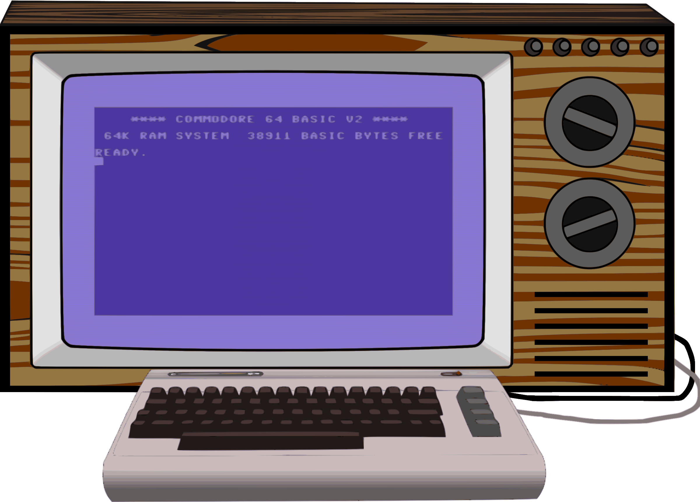 Commodore 64 set-up by Firkin