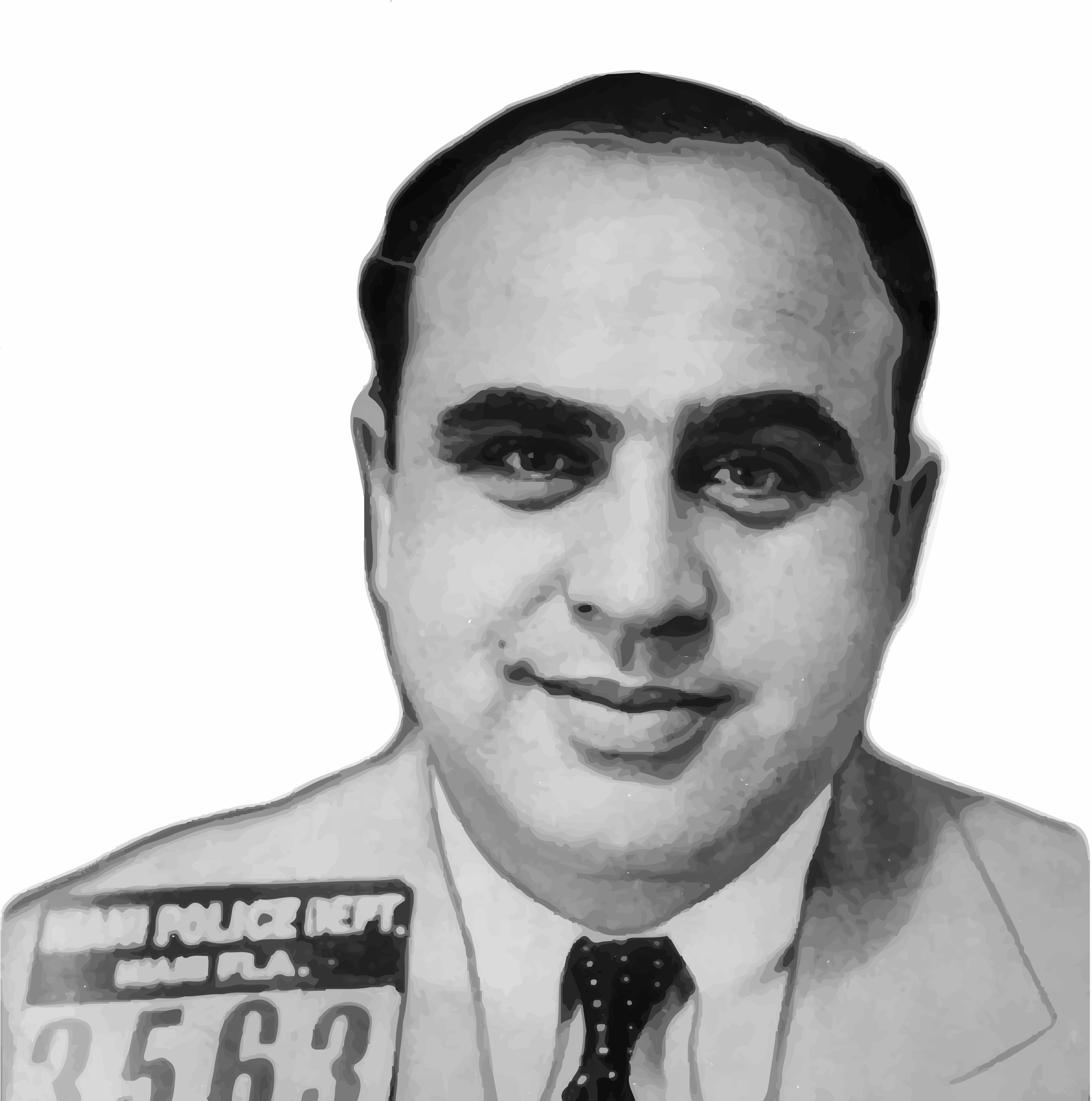 Alphonse Gabriel Capone Mugshot (Background removed) by GDJ