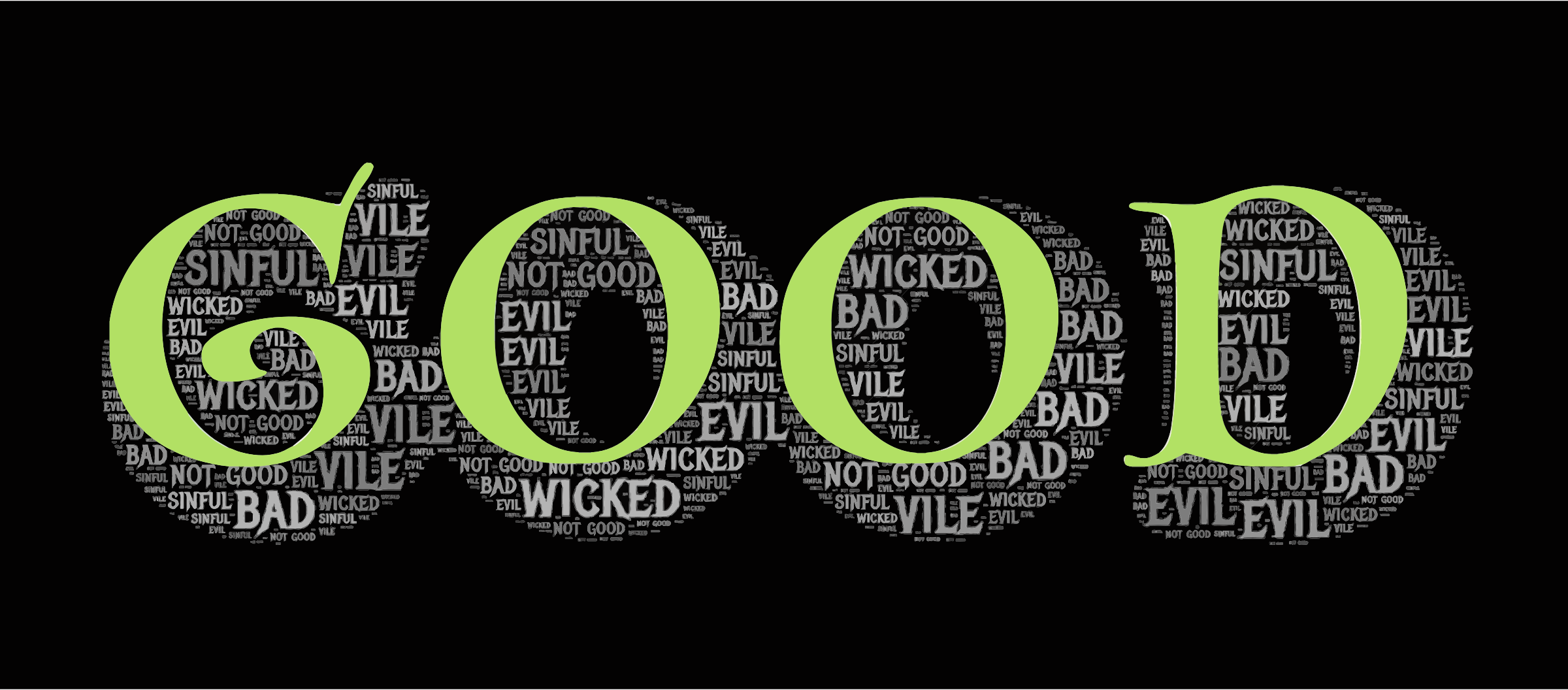 Good Evil Typography by GDJ