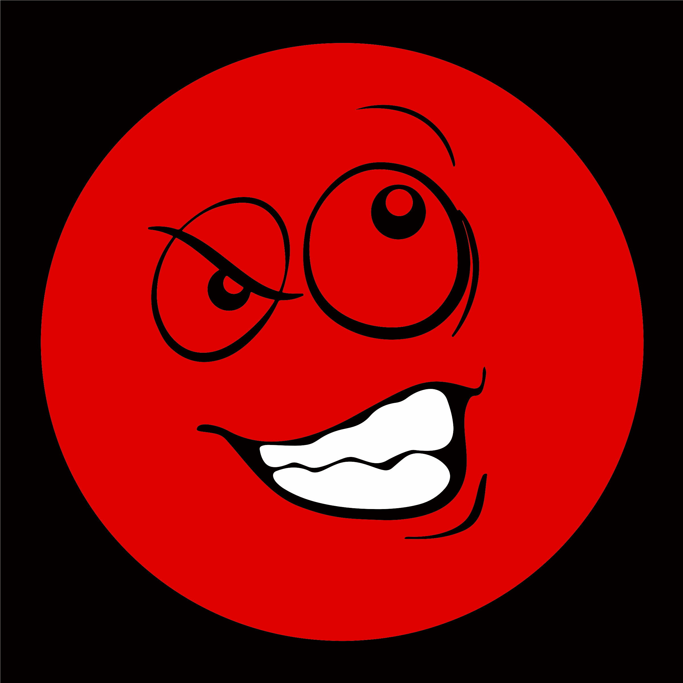 Red Smiley Emoticon 2 by GDJ