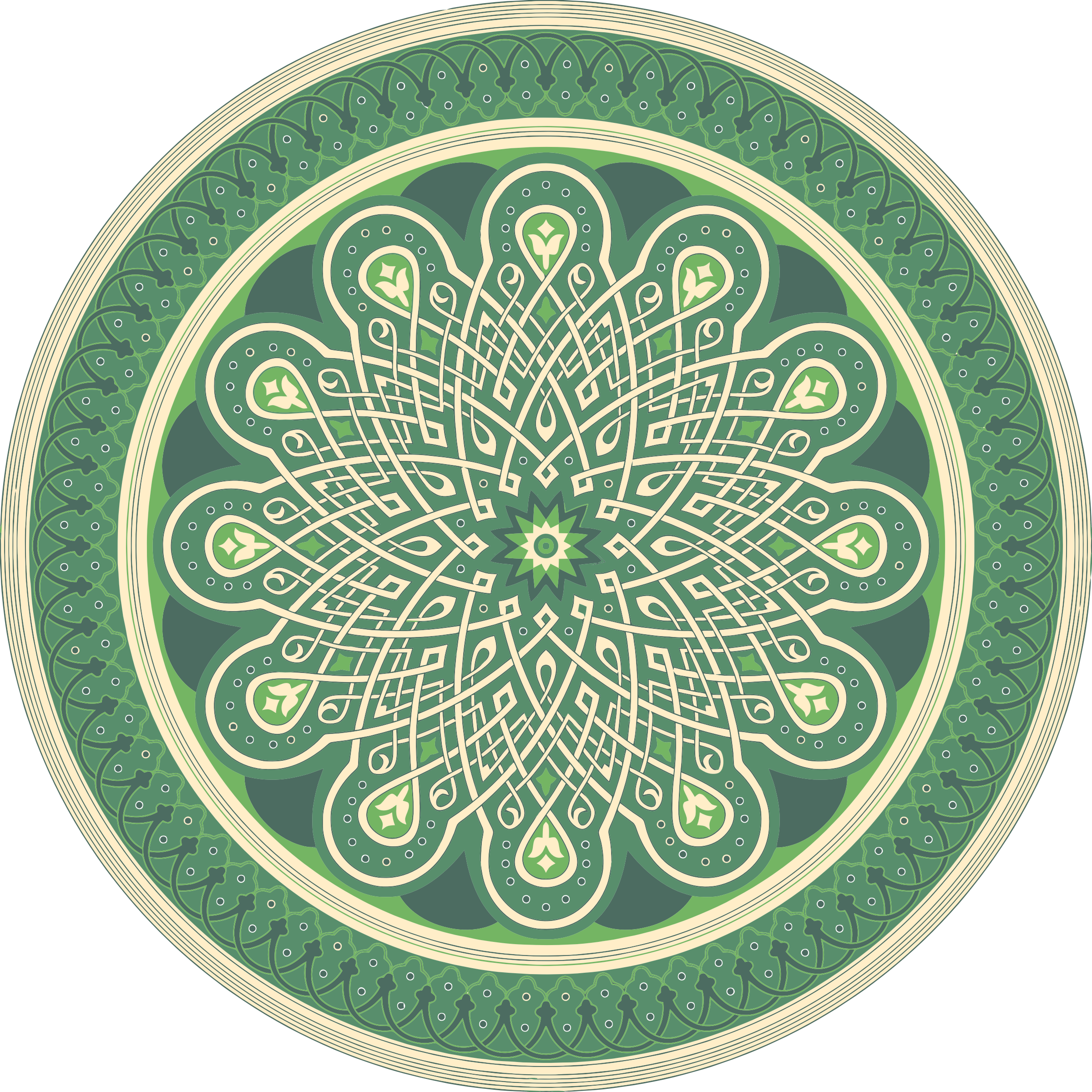 Green Mandala by GDJ