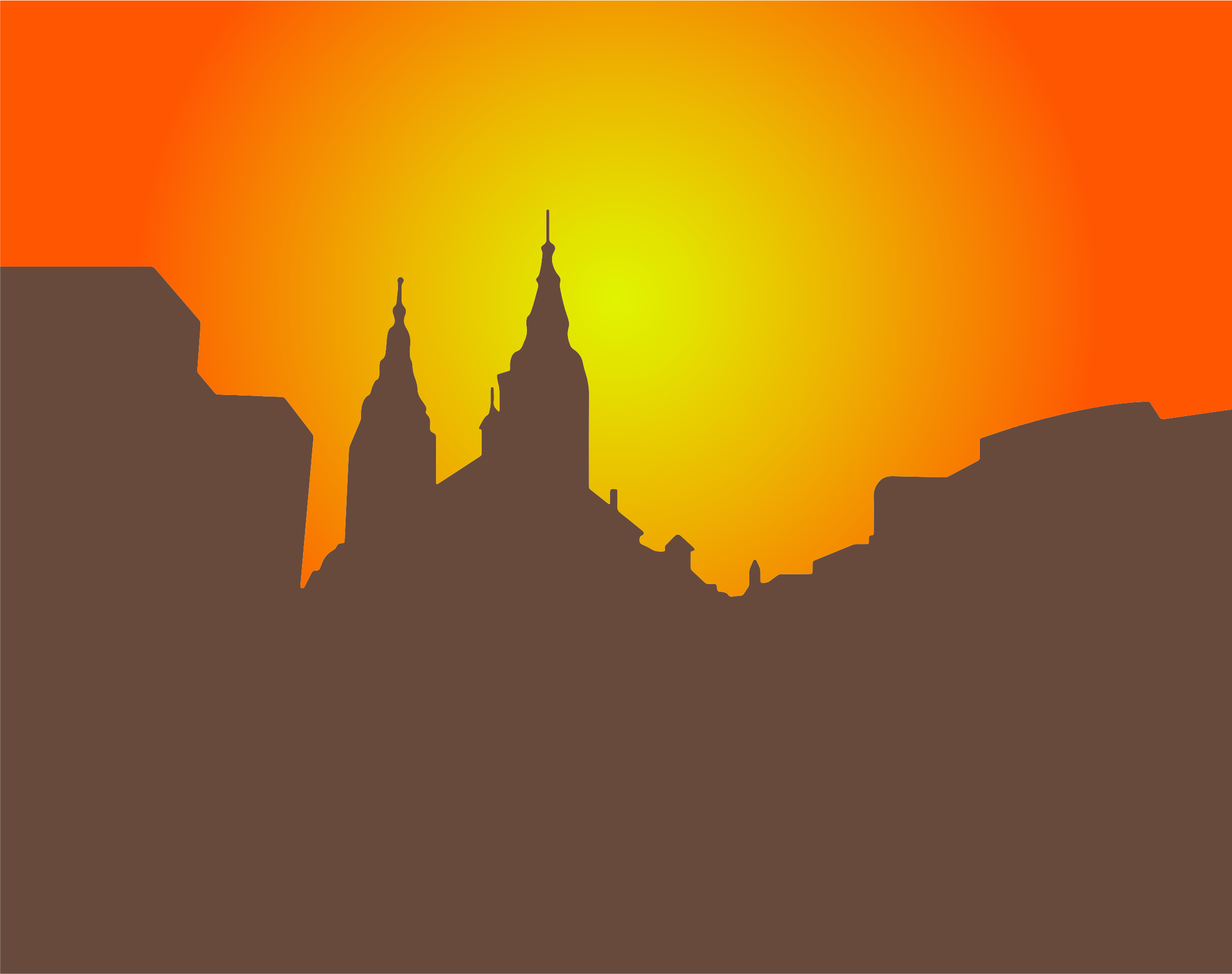 Clipart - Church Silhouette At Dusk