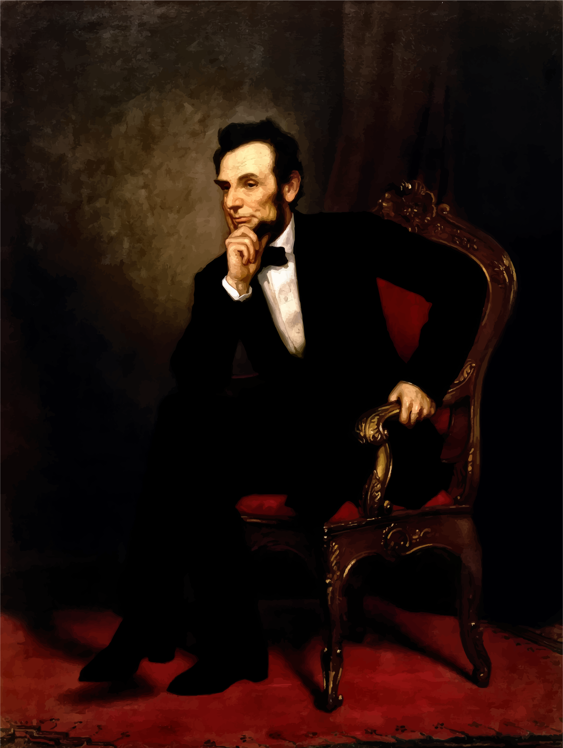 Abraham Lincoln Oil Painting 1869 Restored by GDJ