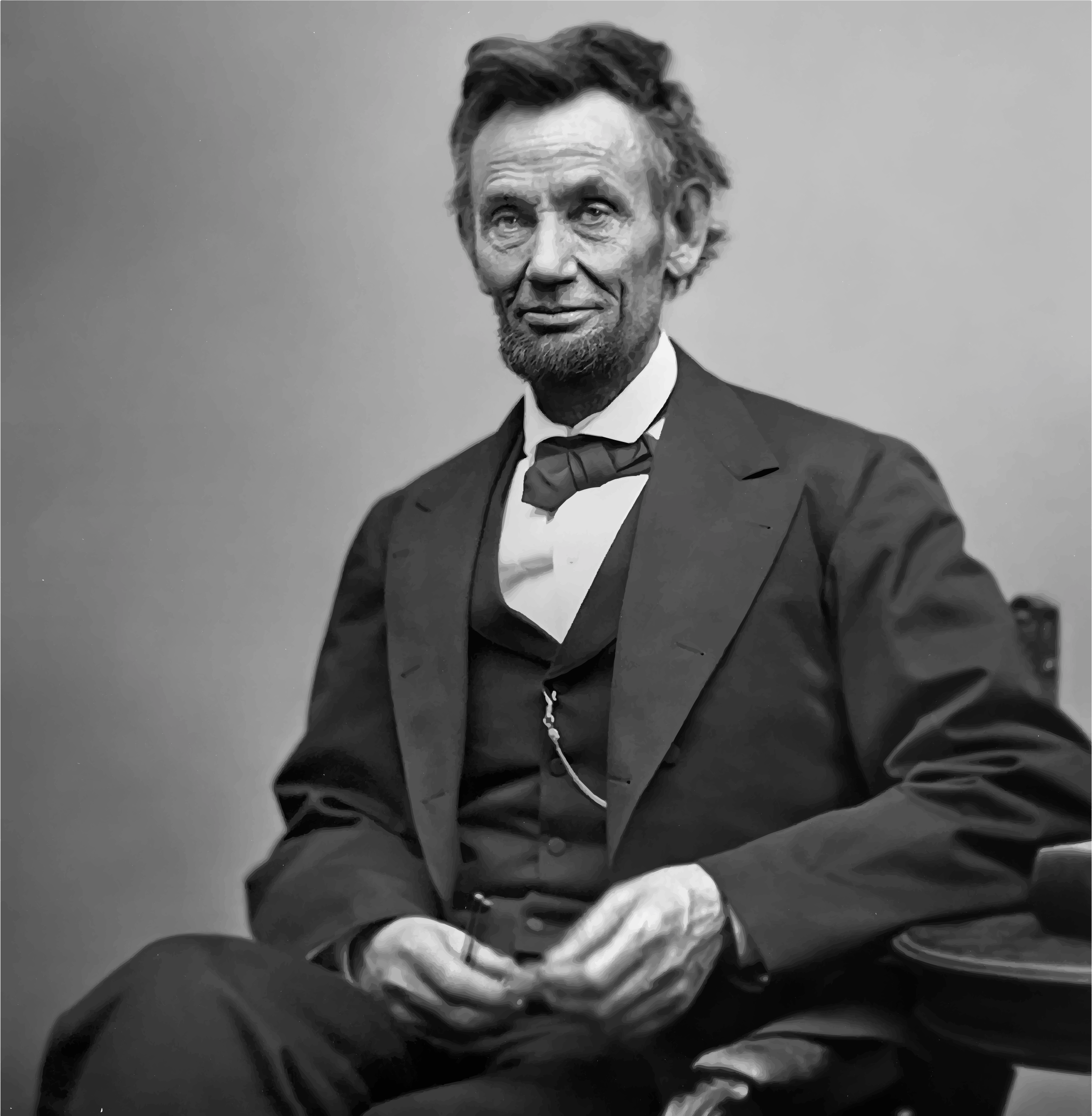 Smiling Abraham Lincoln by GDJ