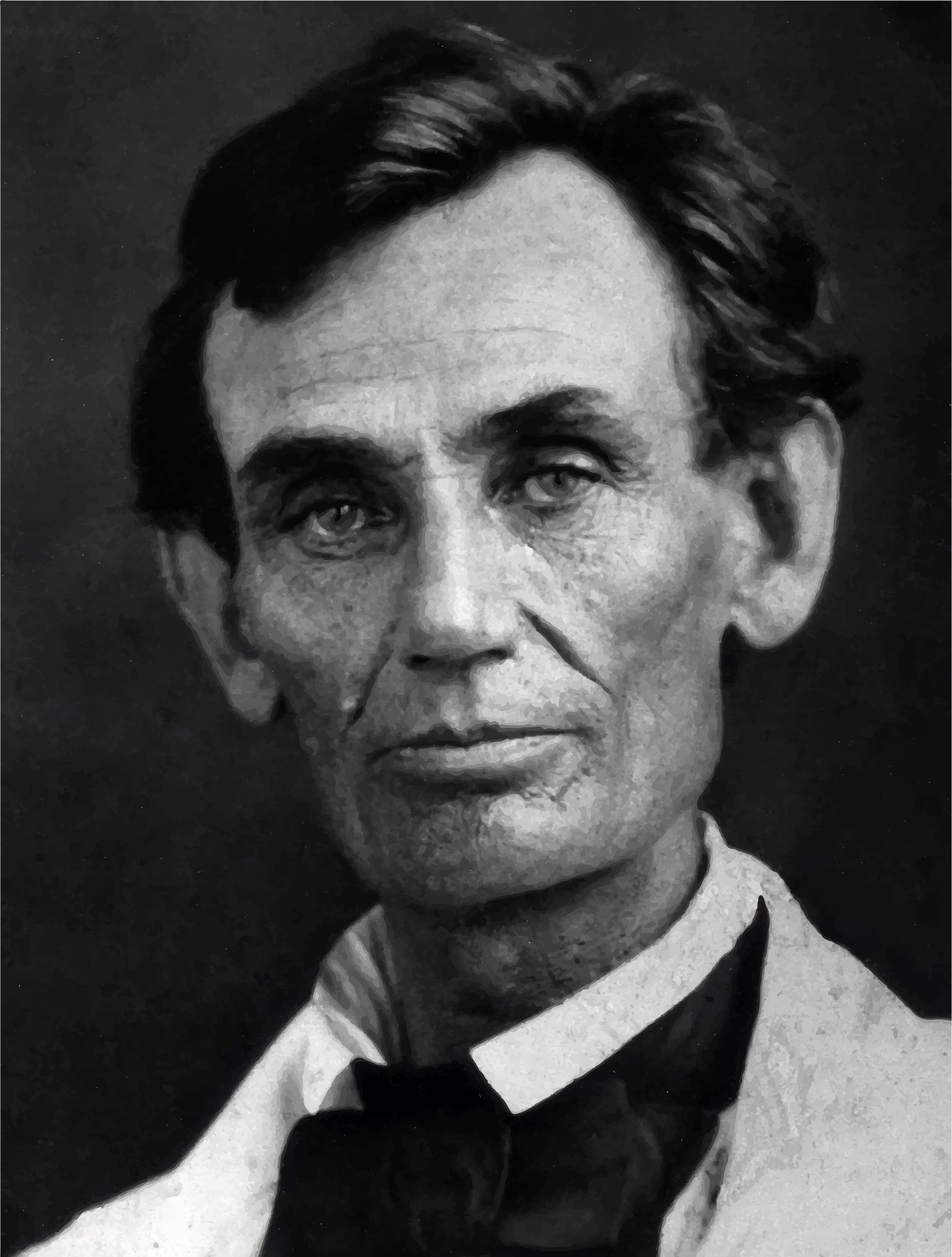 Abraham Lincoln Photograph 1858 by GDJ