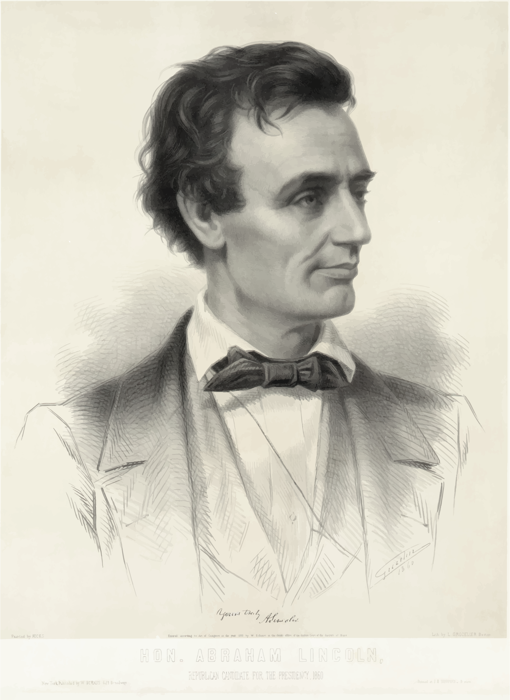 Presidential Candidate Abraham Lincoln 1860 by GDJ