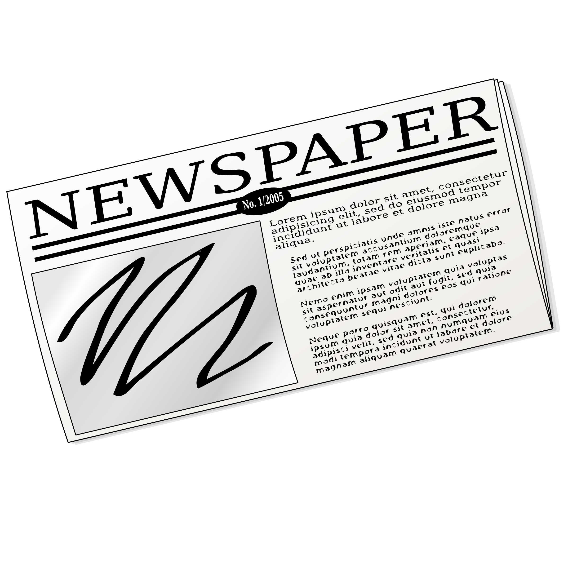 Newspaper by nicubunu