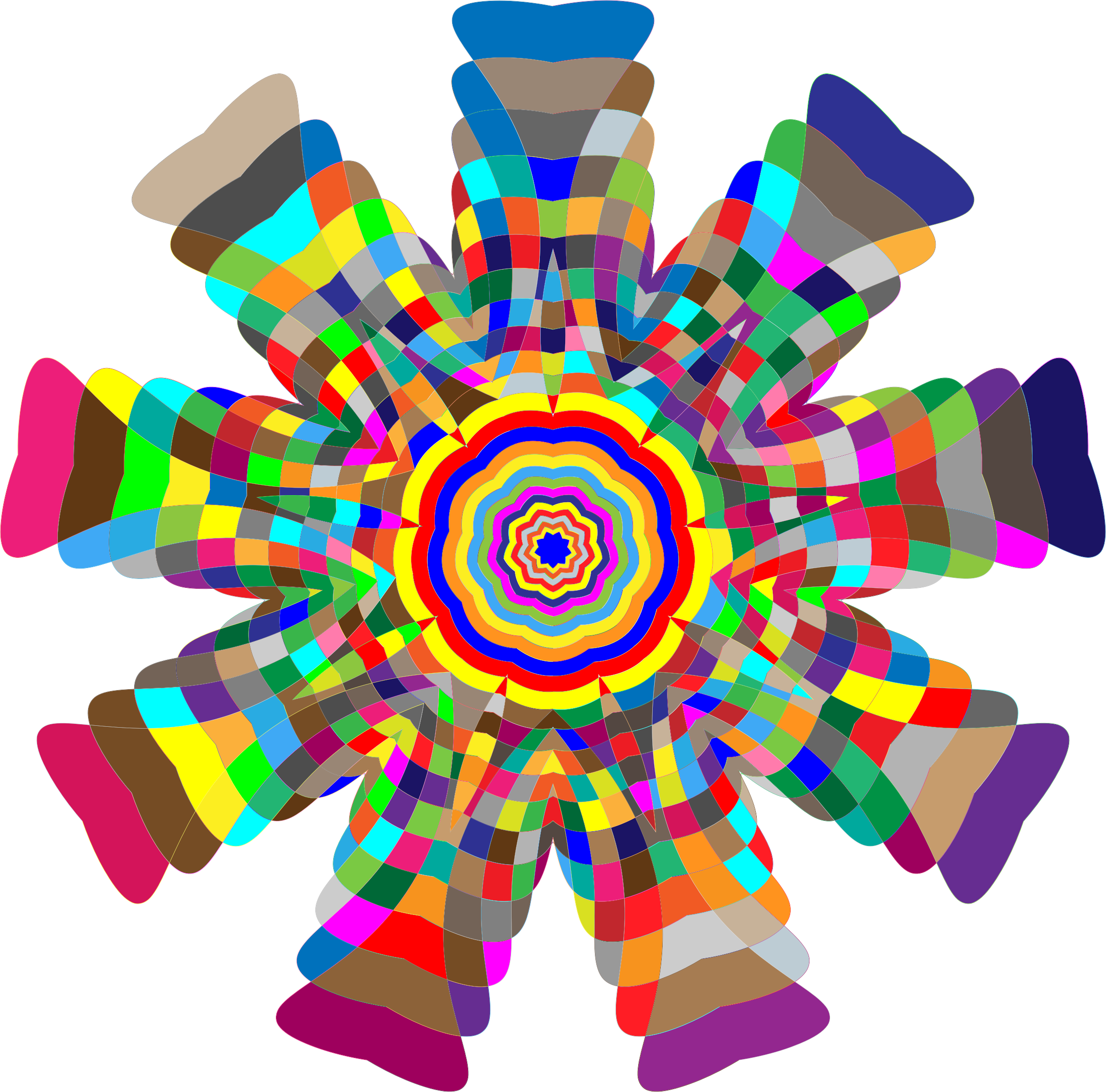 Clipart - Colorful Geometric Form