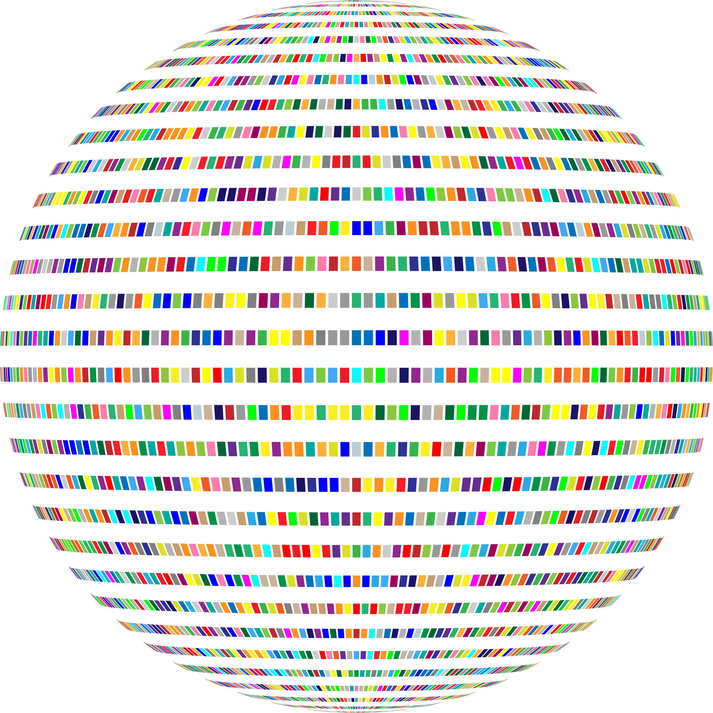 Colorful Rectangles Sphere by GDJ