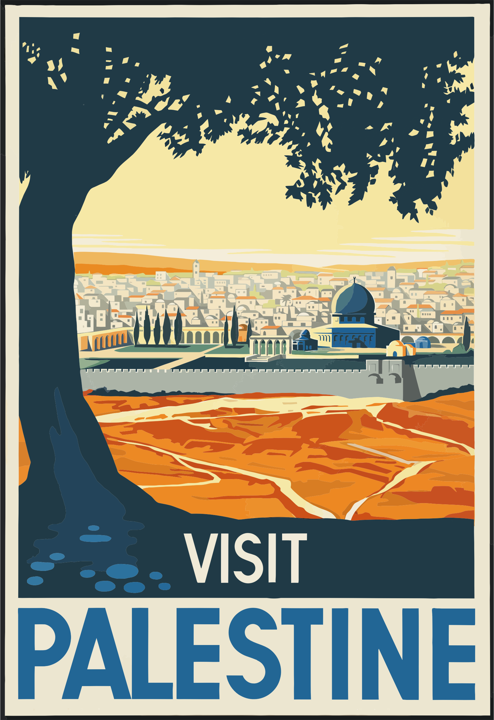 Vintage Travel Poster Palestine by GDJ