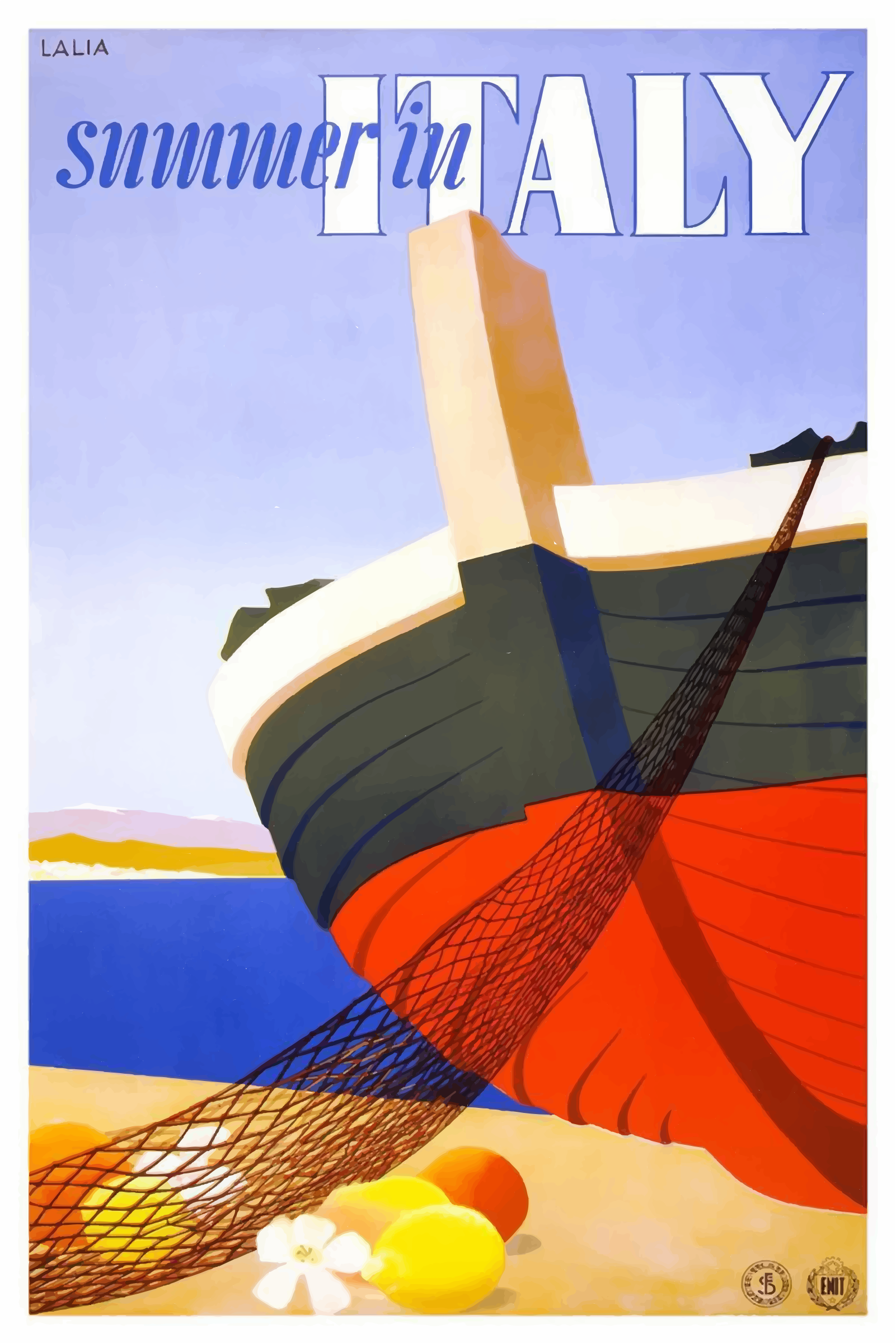 Vintage Travel Poster Italy by GDJ
