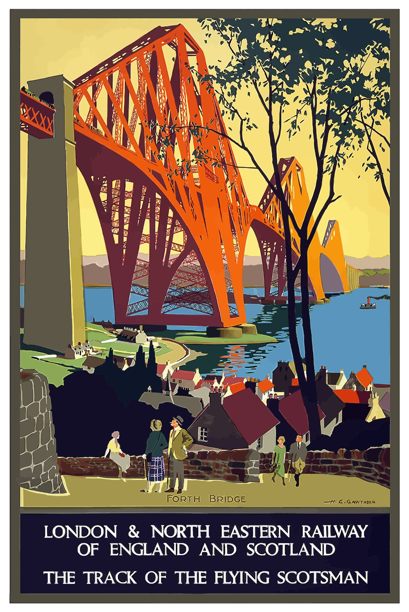 Vintage Travel Poster England And Scotland by GDJ