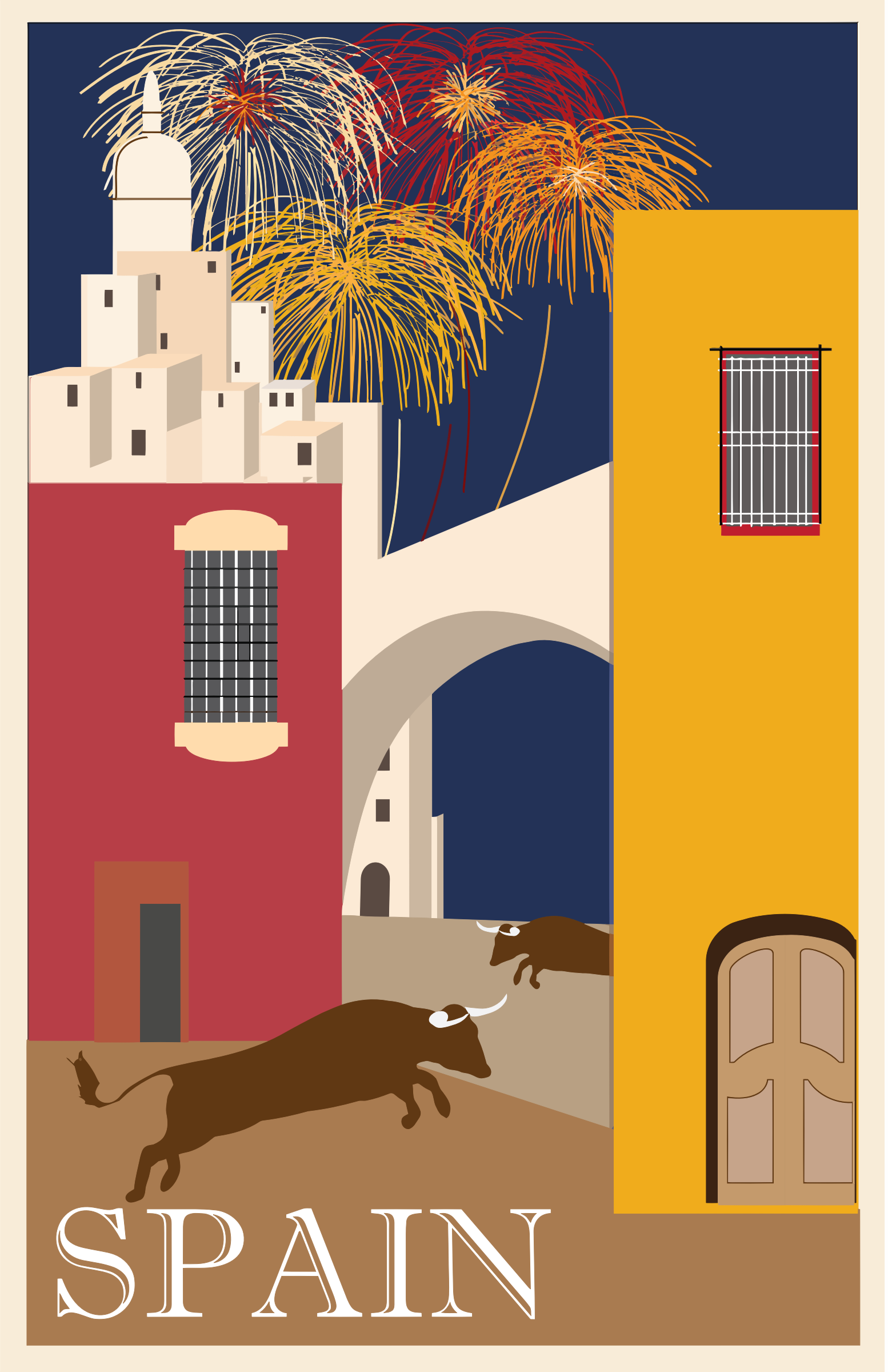 Vintage Travel Poster Spain by GDJ