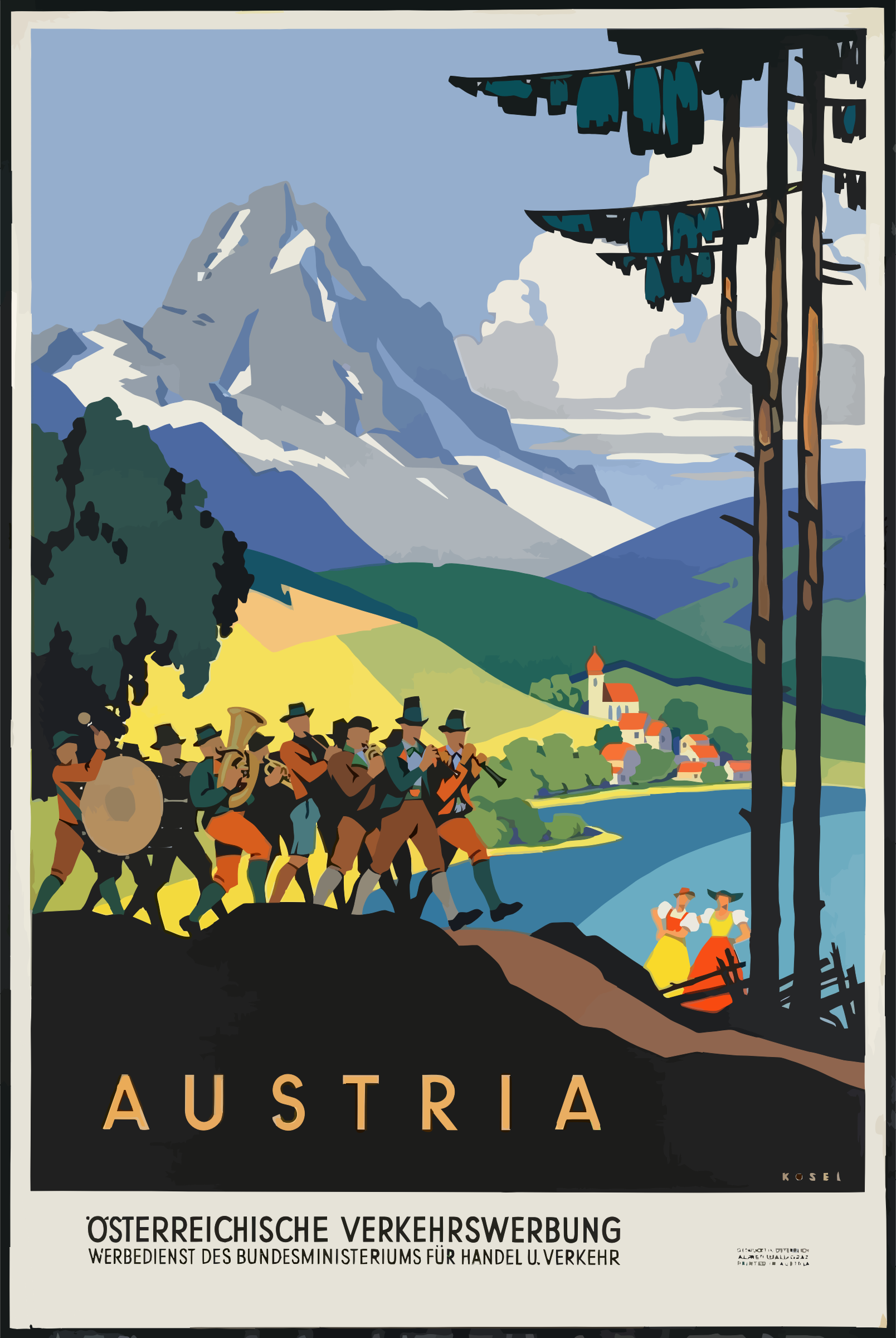Vintage Travel Poster Austria by GDJ