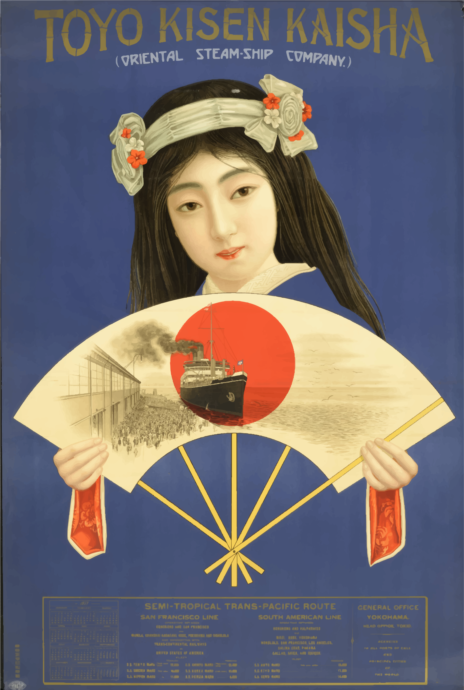 Vintage Travel Poster Japan 1917 by GDJ