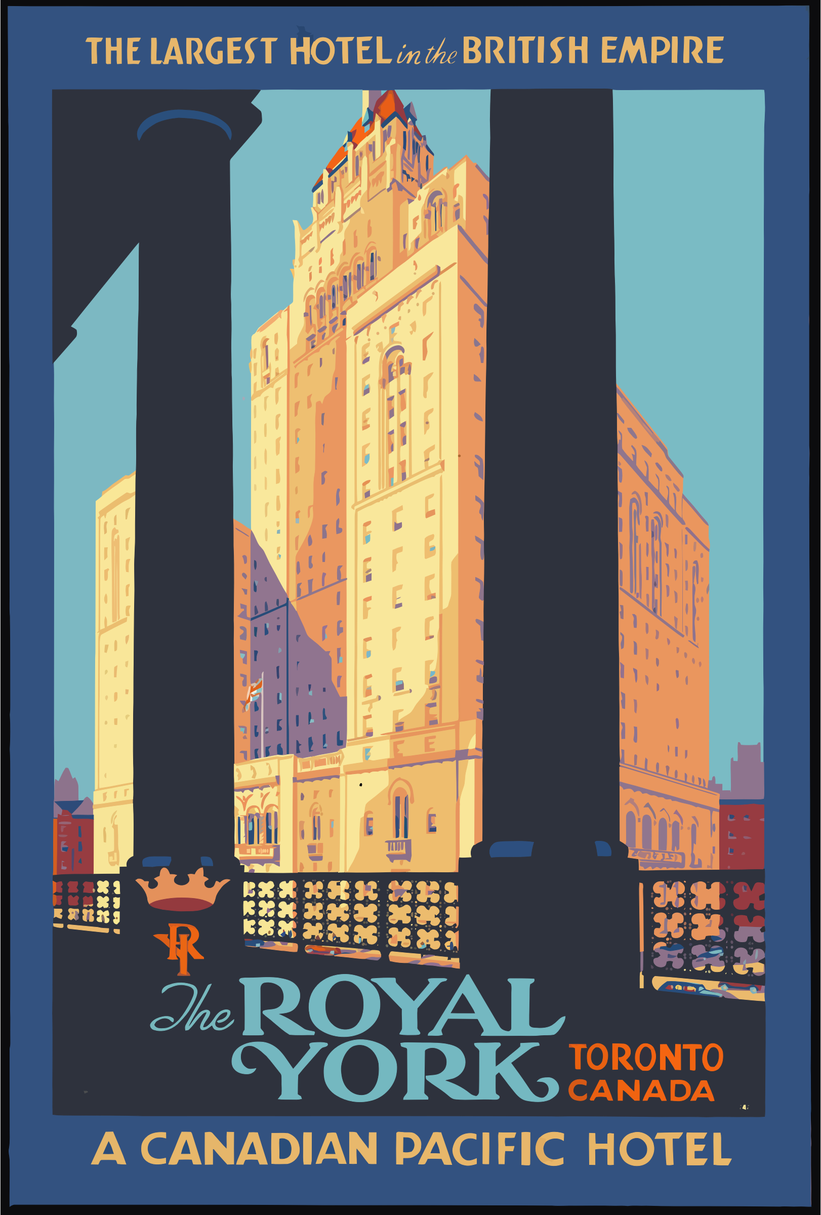 Vintage Travel Poster Toronto Canada by GDJ