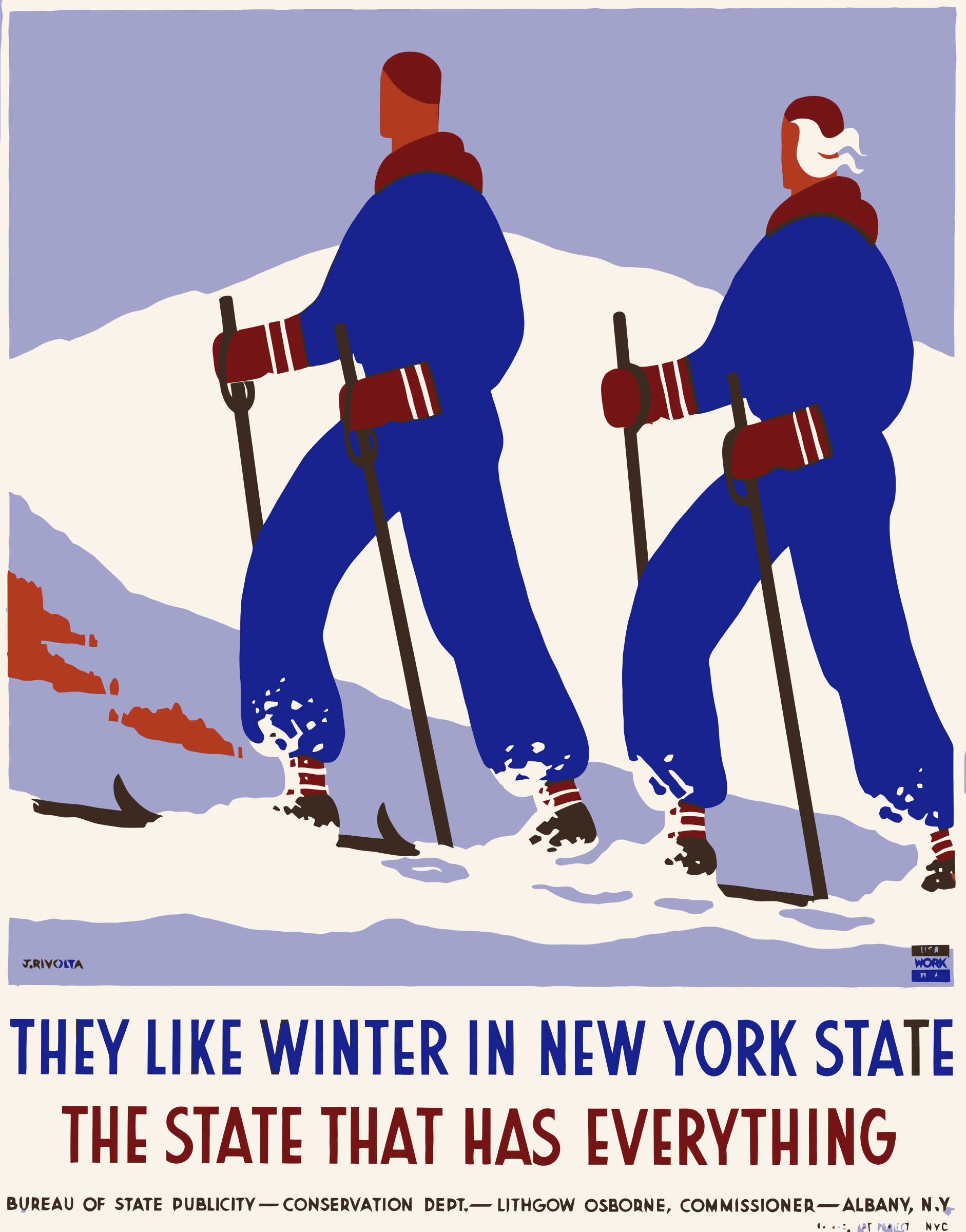 Vintage Travel Poster New York America USA by GDJ