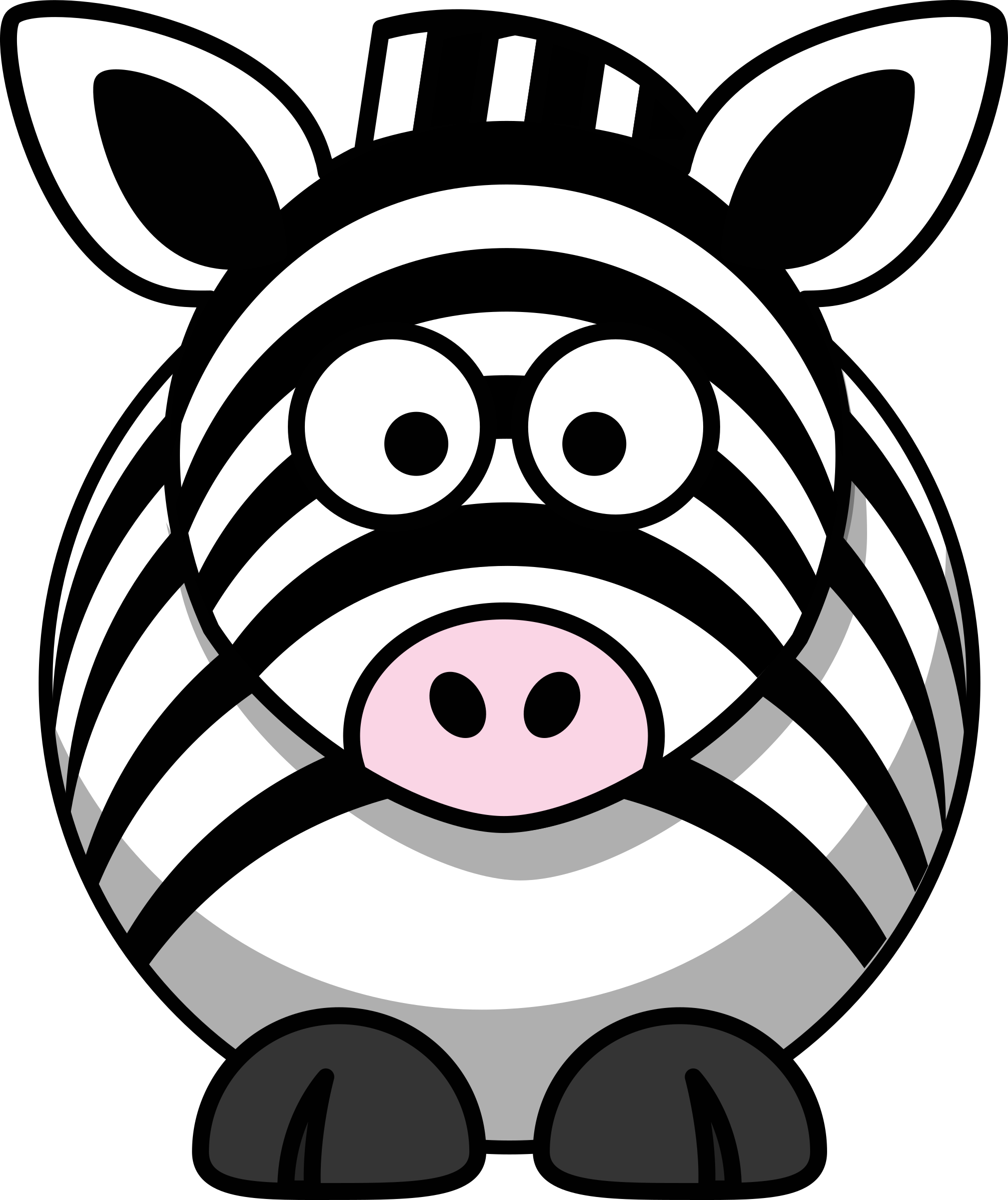 Cartoon zebra by StudioFibonacci