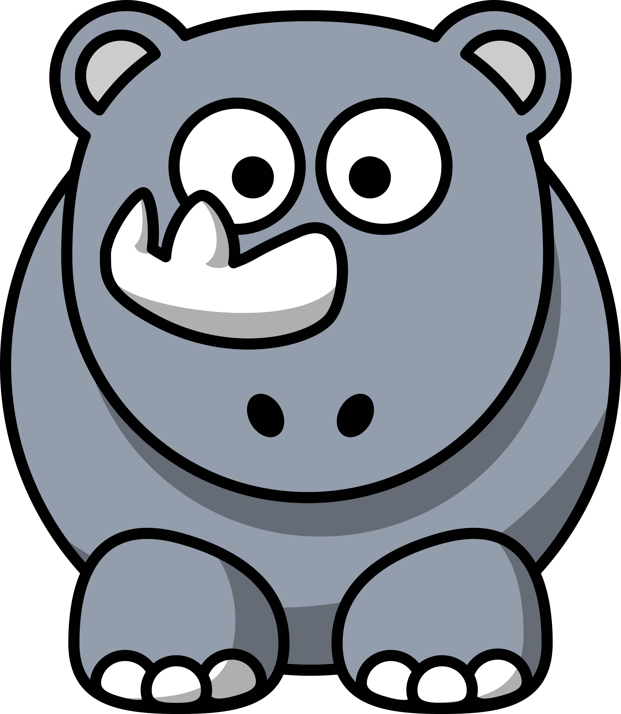 Cartoon rhino by StudioFibonacci