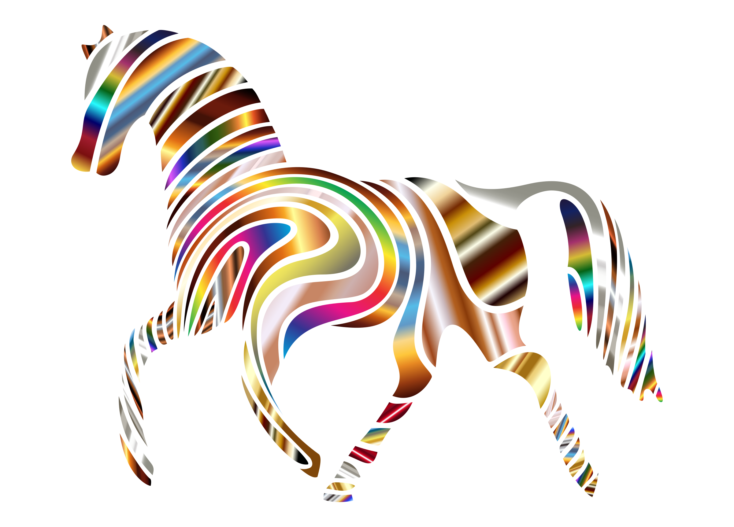 Psychedelic Horse by GDJ