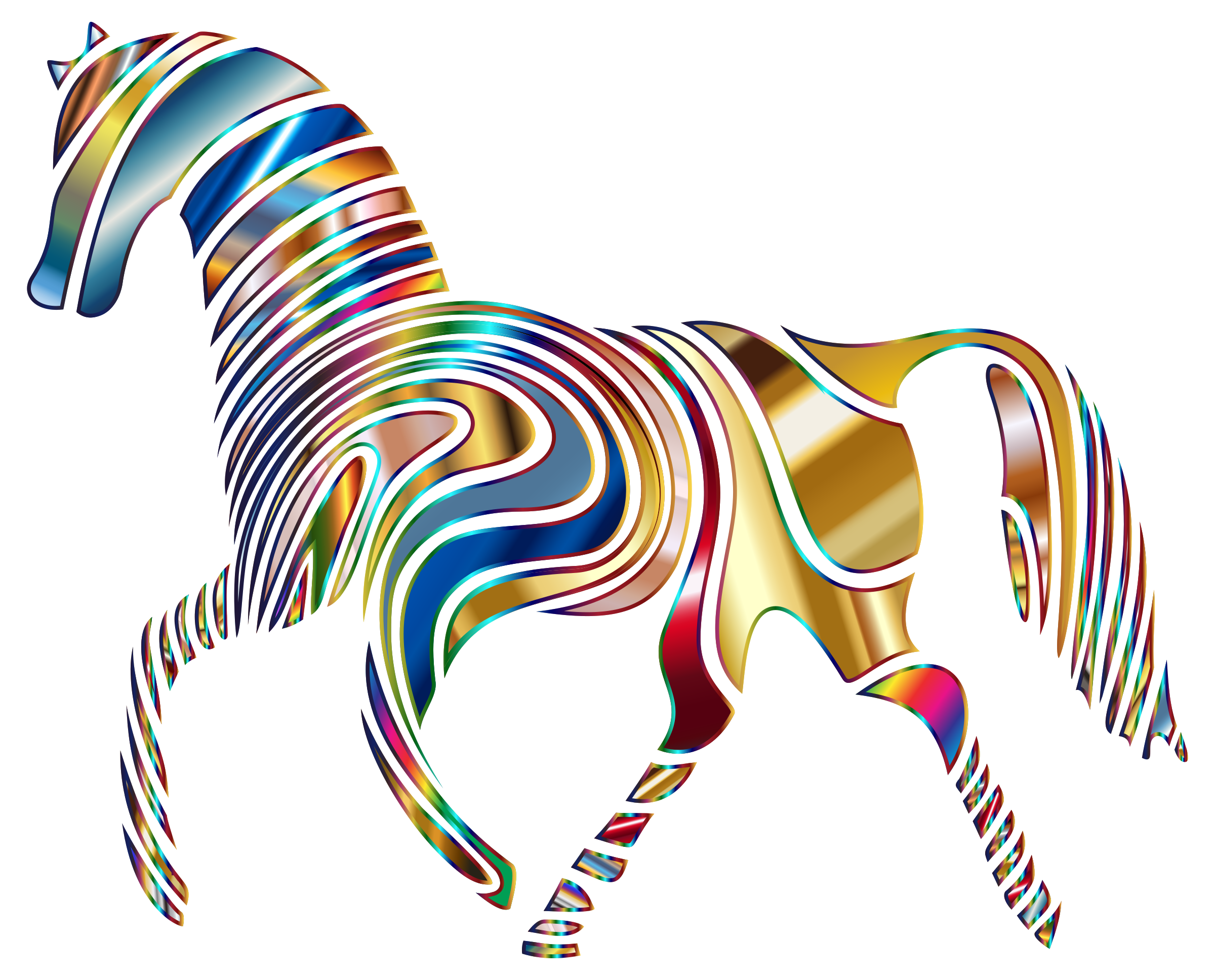 Psychedelic Horse 2 by GDJ