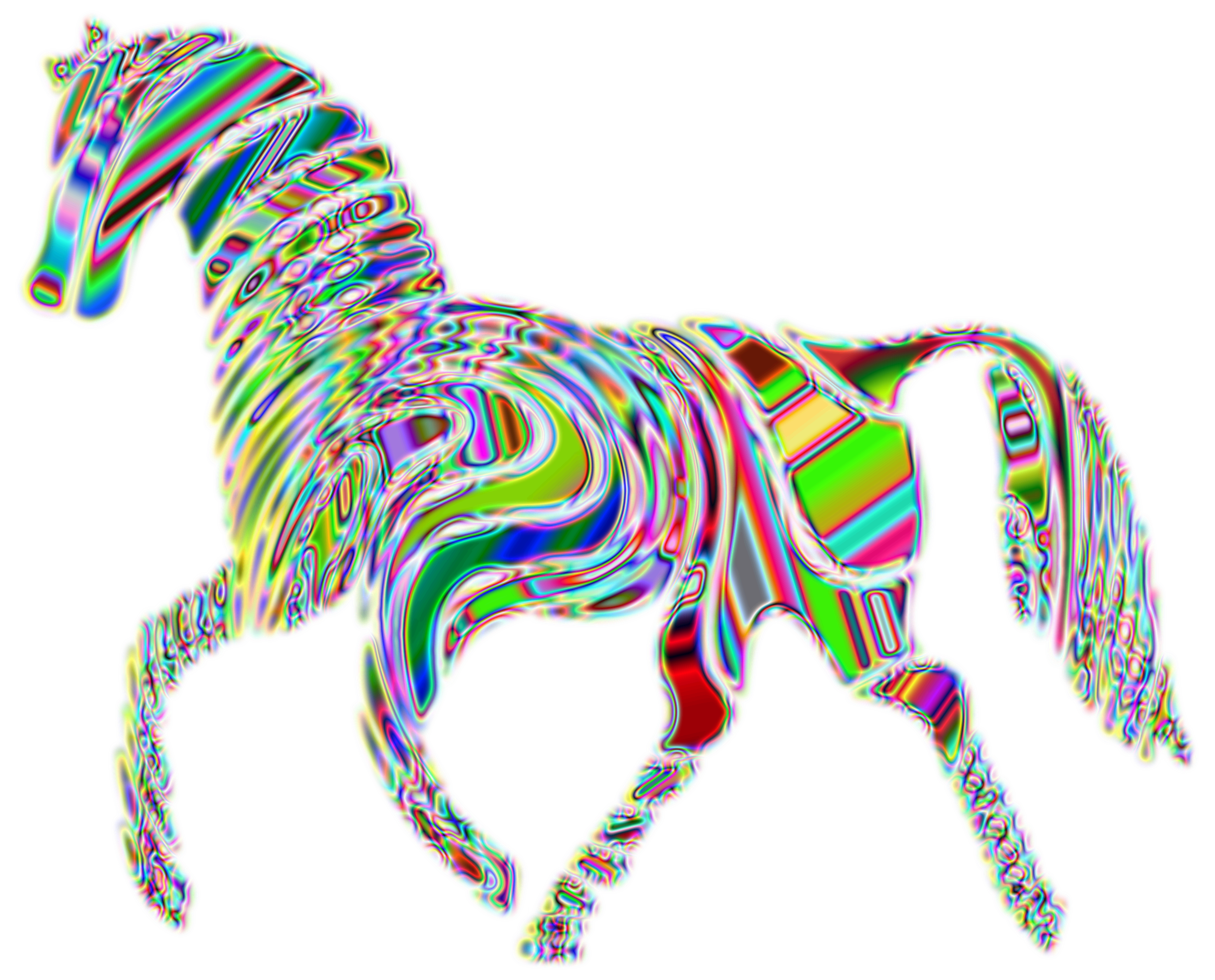 Psychedelic Horse 4 by GDJ
