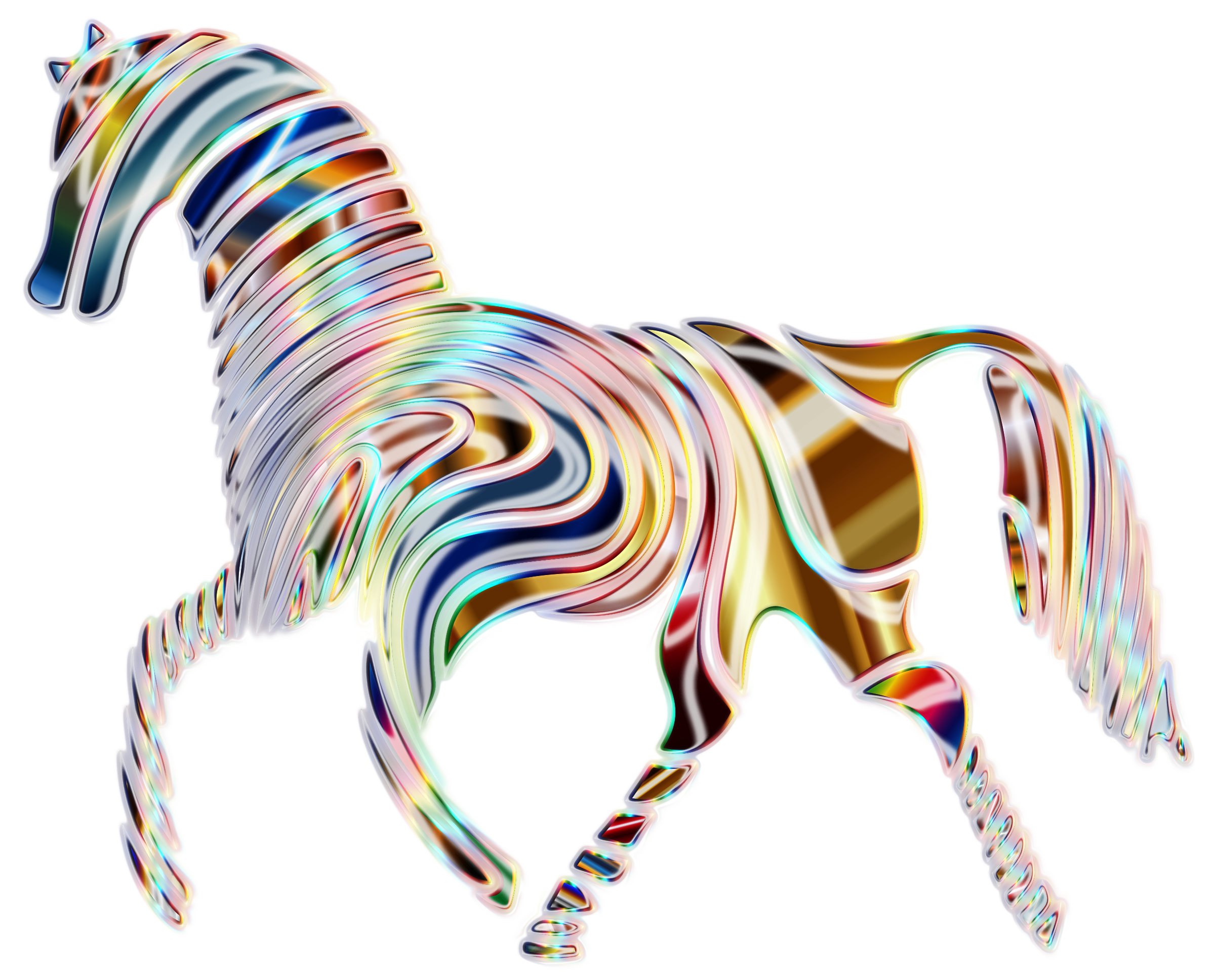 Psychedelic Horse 5 by GDJ