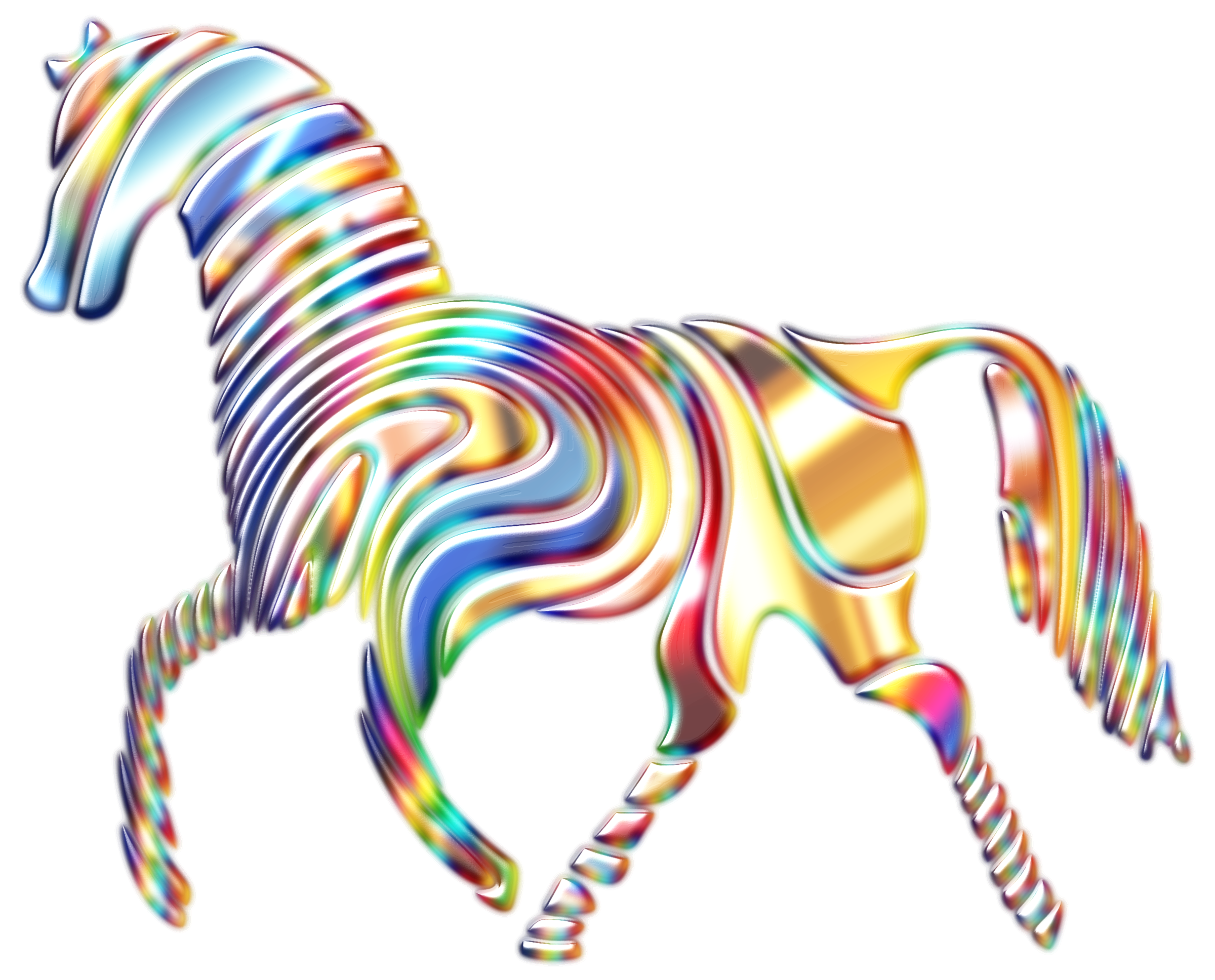Psychedelic Horse 6 by GDJ