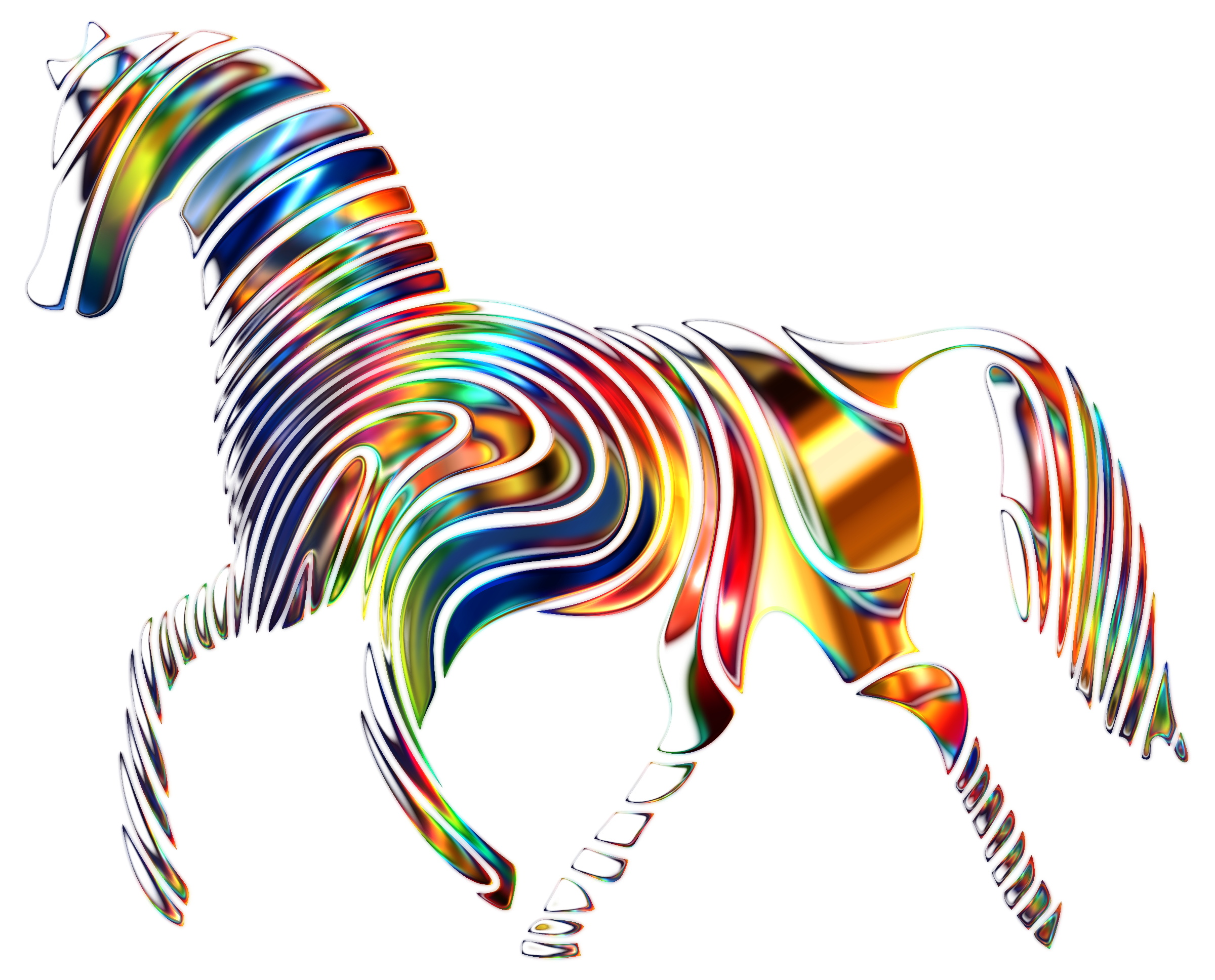 Psychedelic Horse 7 by GDJ