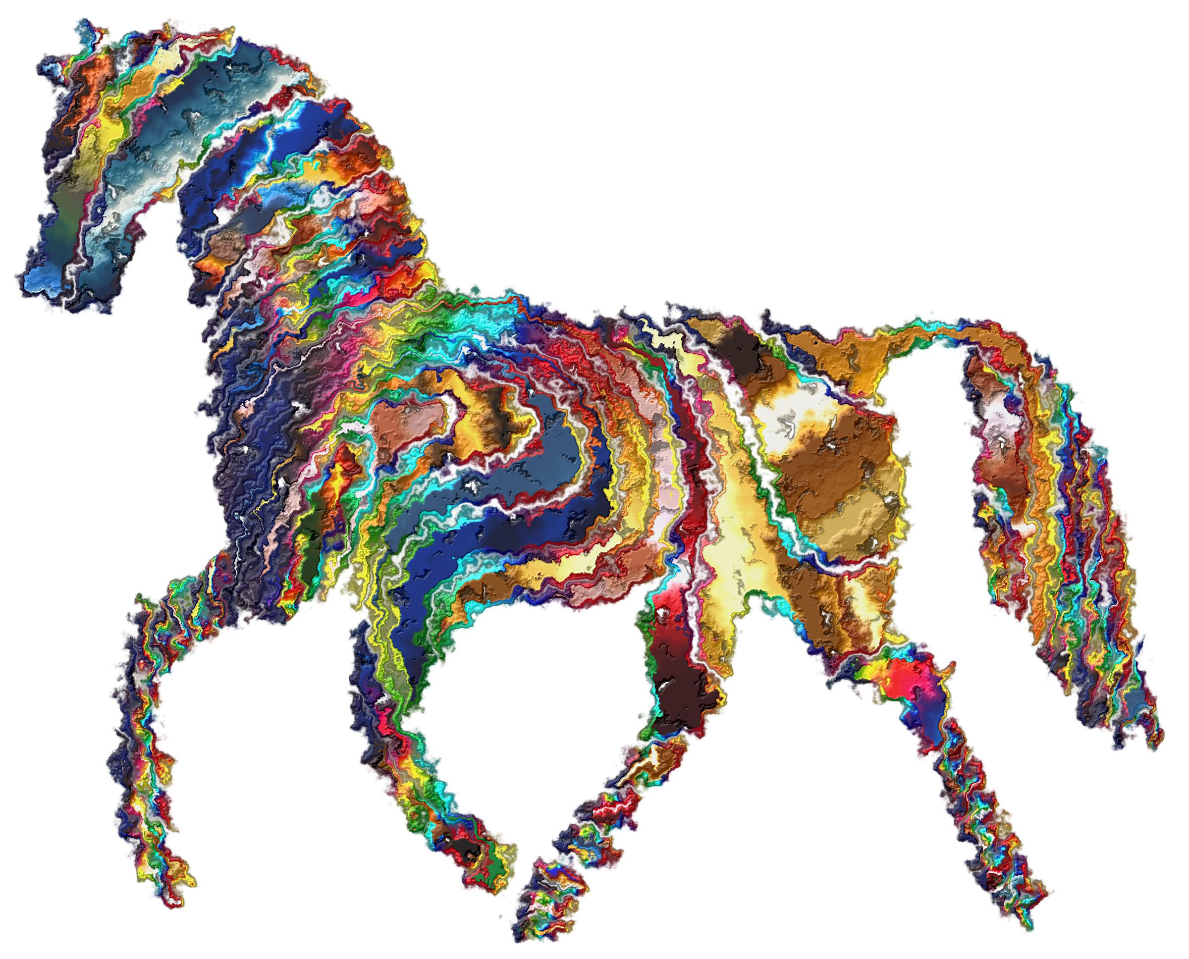 Psychedelic Horse 8 by GDJ