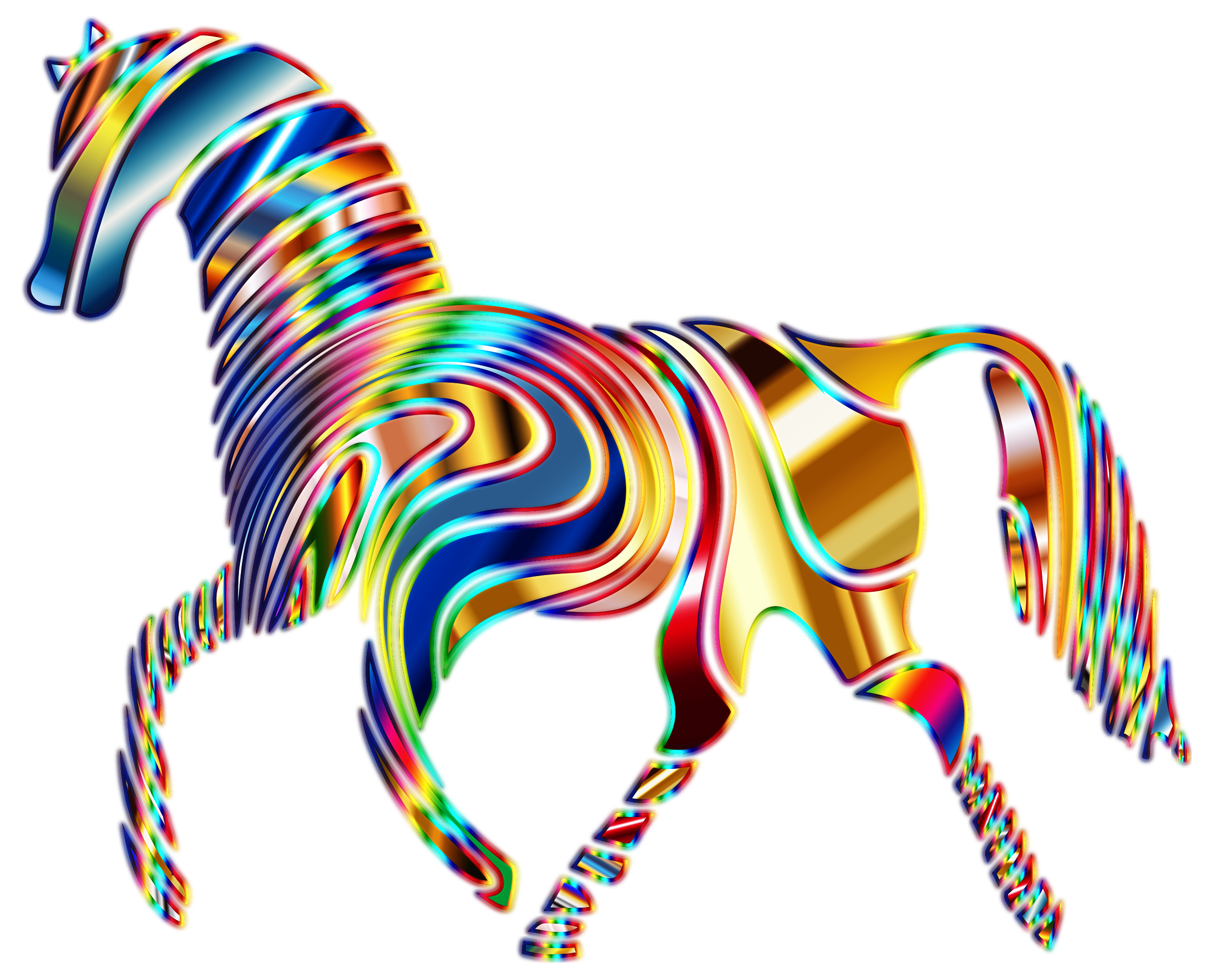 Psychedelic Horse 9 by GDJ