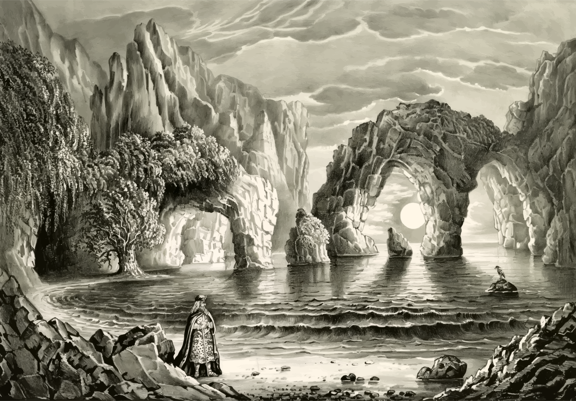 The Magic Grottoes 1870 by GDJ