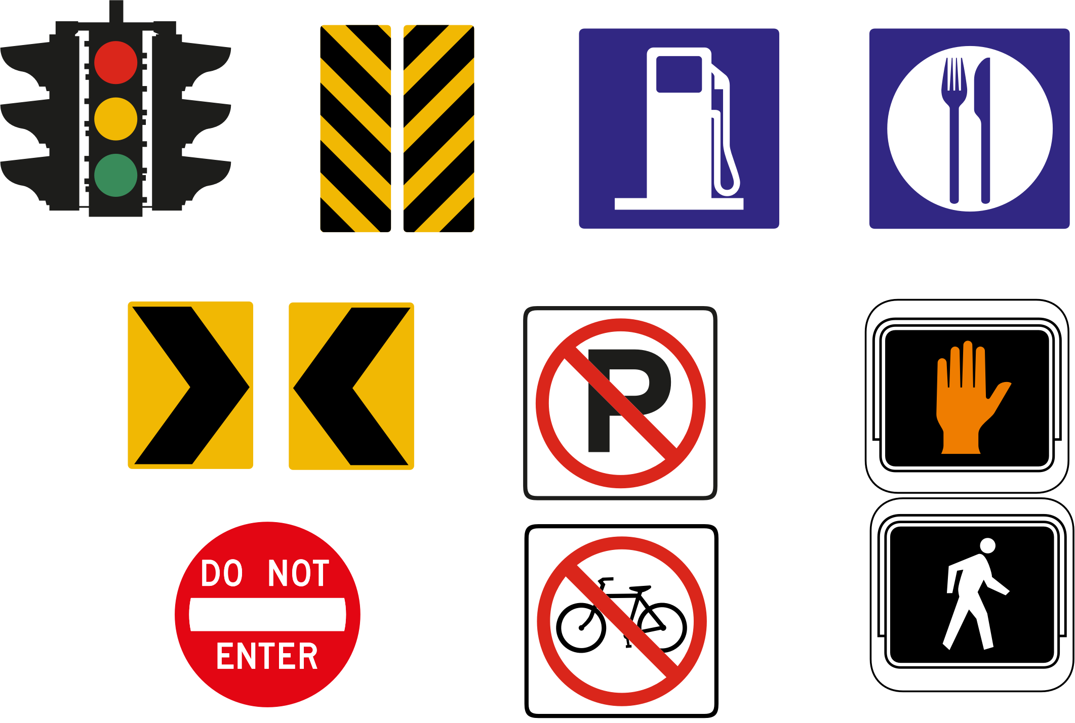 Road Signs Icon Set by GDJ