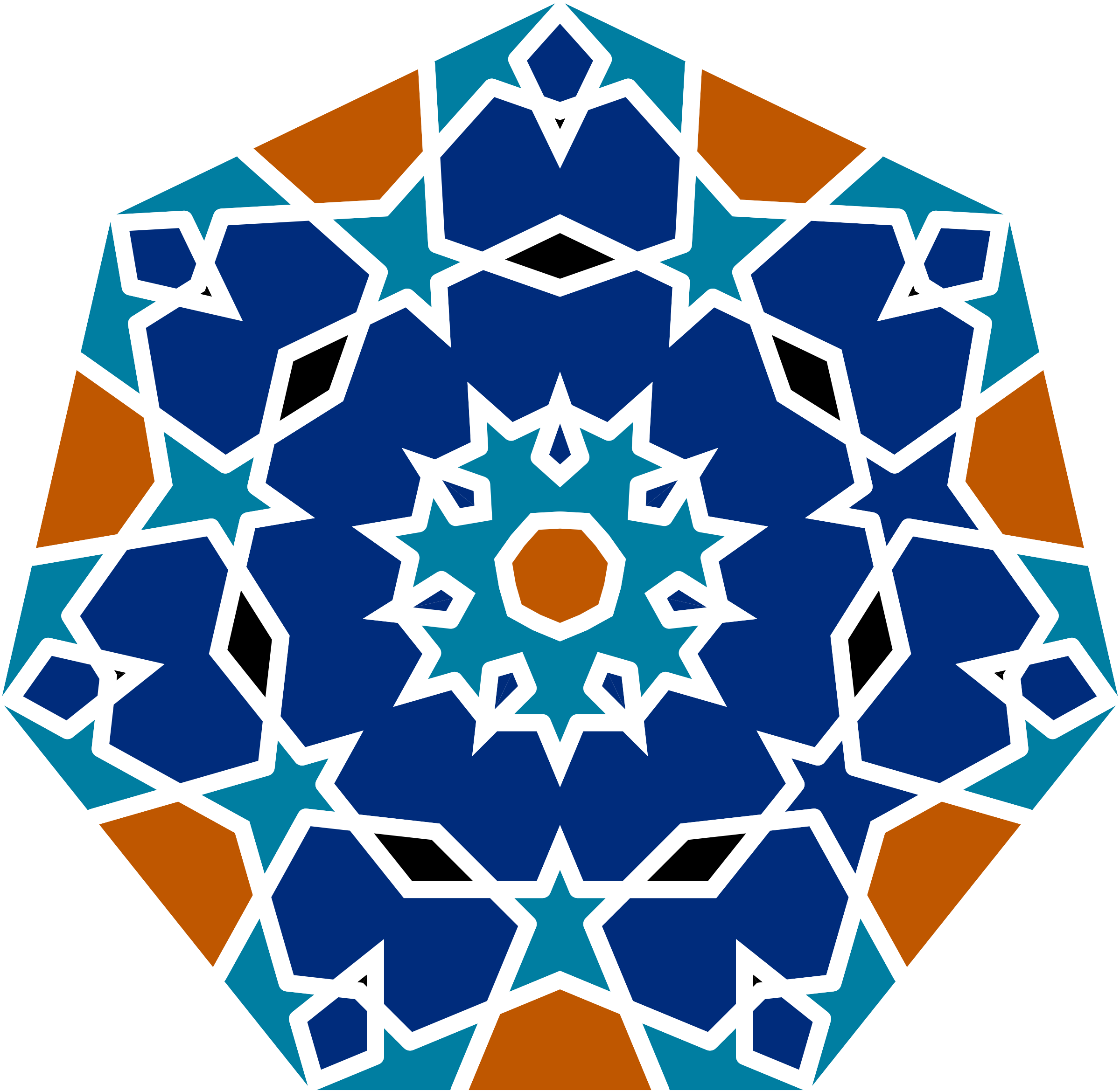 Islamic Geometric Tile by GDJ