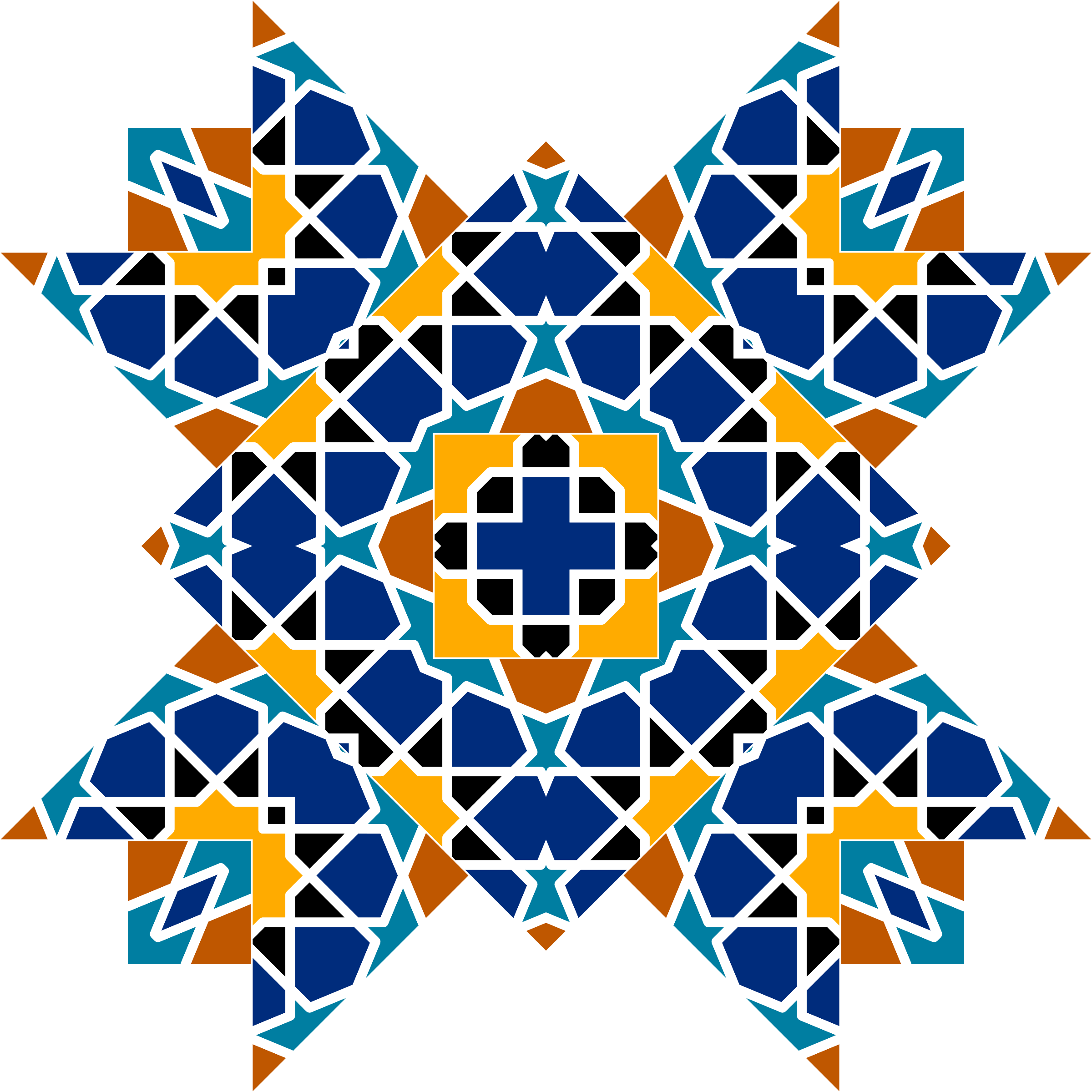 Islamic Geometric Tile 3 by GDJ