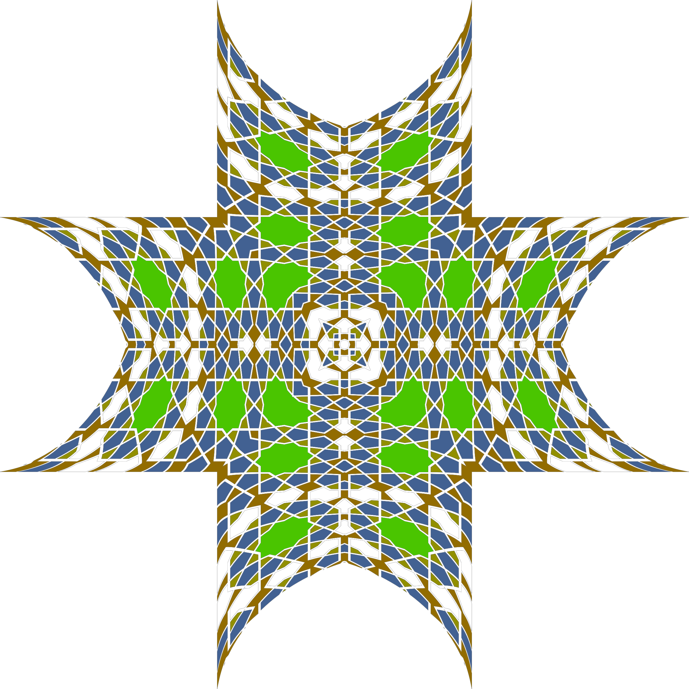Islamic Geometric Tile 4 by GDJ