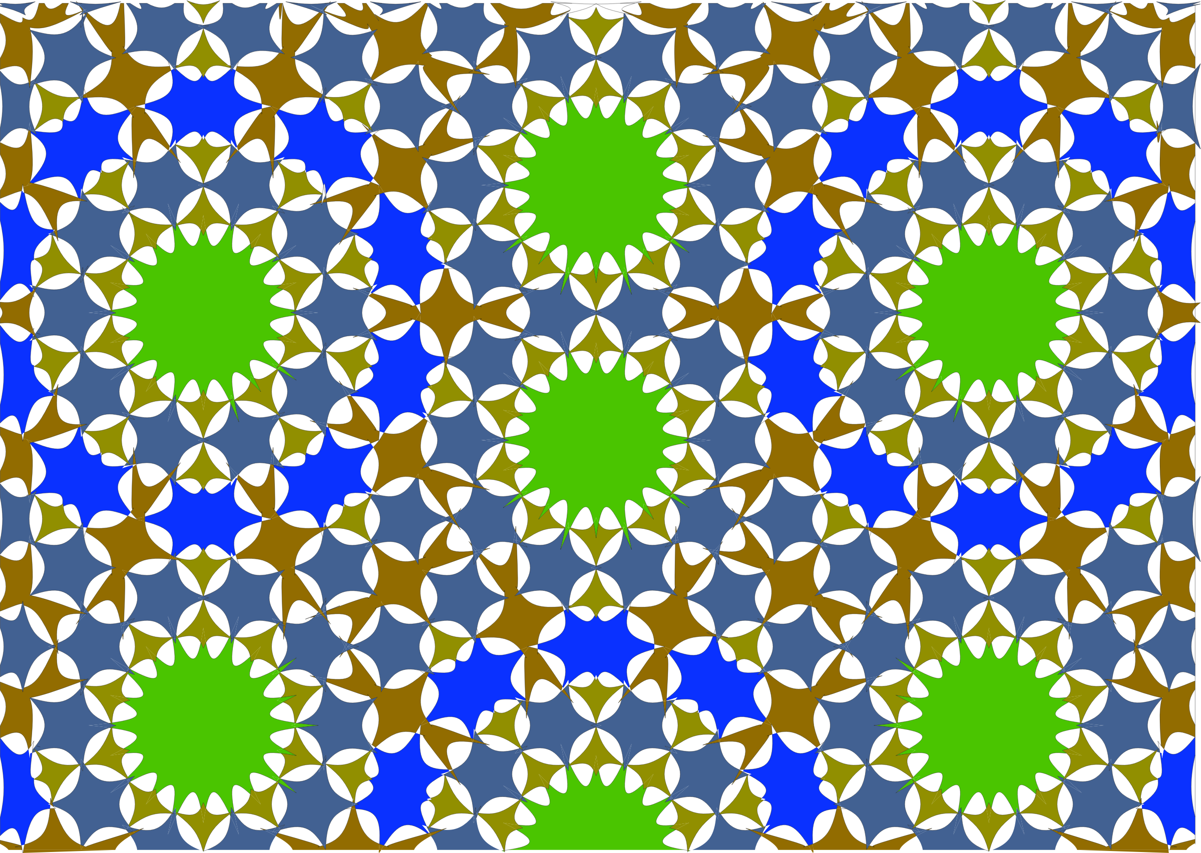 Islamic Geometric Tile 7 by GDJ
