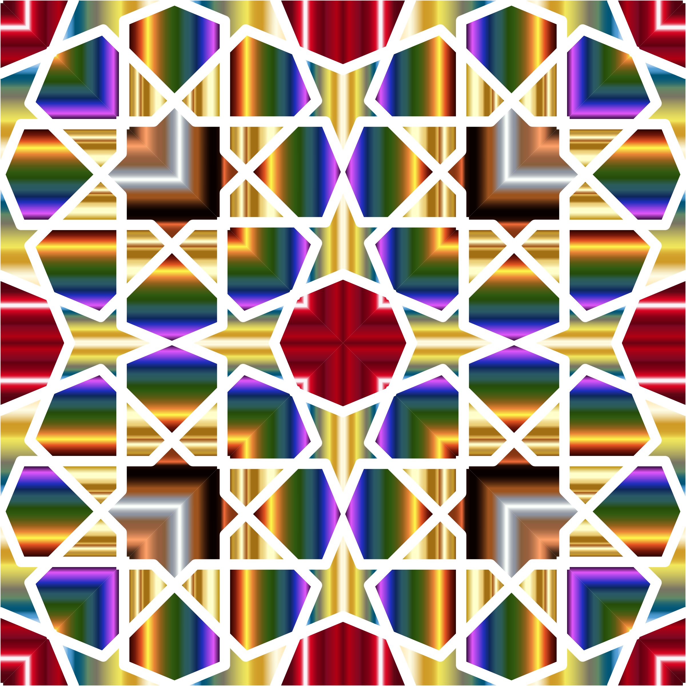 Islamic Geometric Tile 8 by GDJ